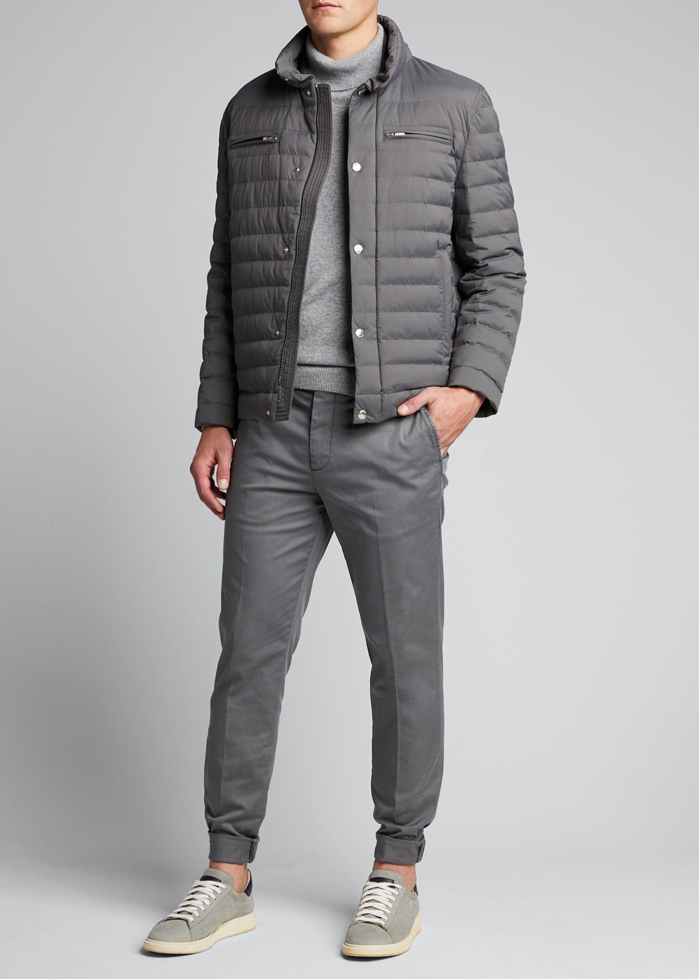 Brunello Cucinelli Men's Basic Fit Chino Pants
