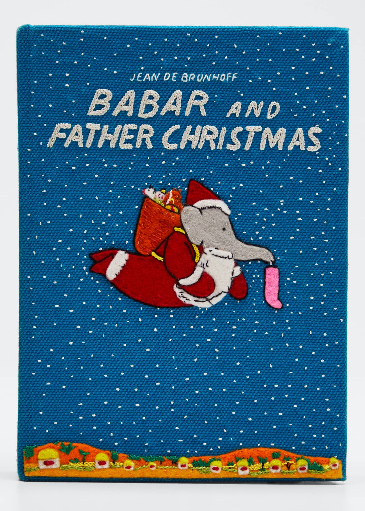 Olympia Le-Tan Babar and Father Christmas Clutch Bag