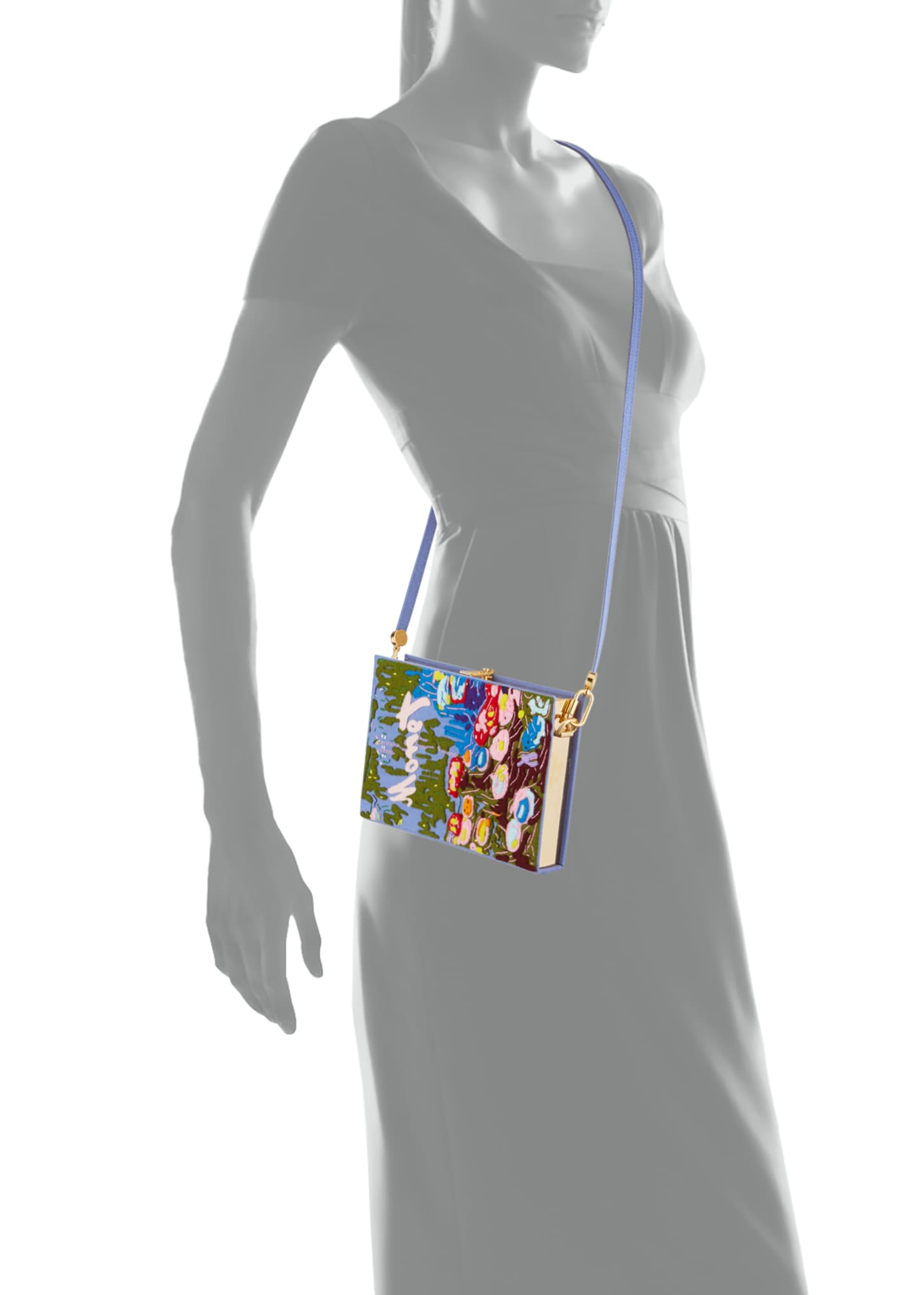 Image 4 of 4: Monet Strapped Book Clutch Bag