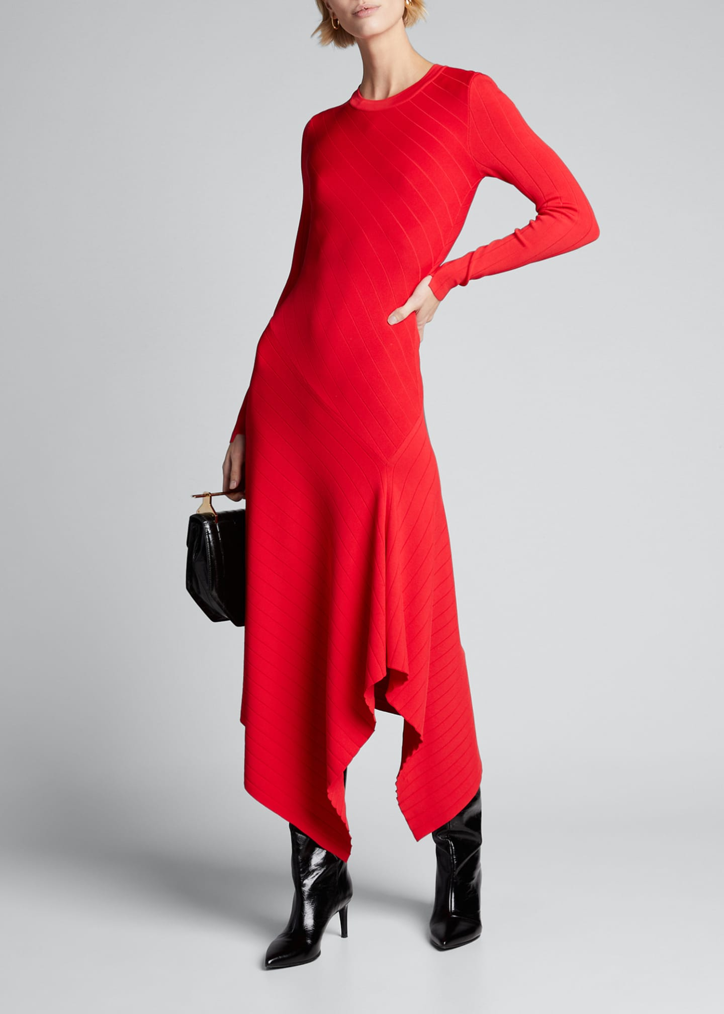 A.L.C. Viviana Asymmetrical Long-Sleeve Dress