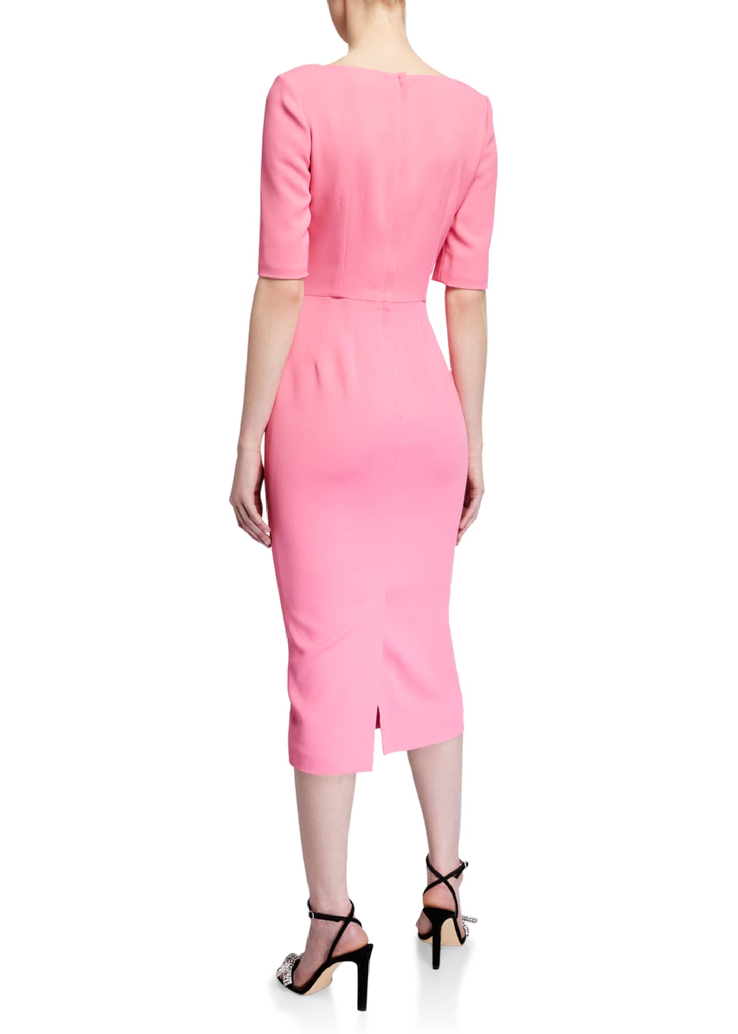 Image 2 of 2: Cady 1/2-Sleeve Sheath Dress