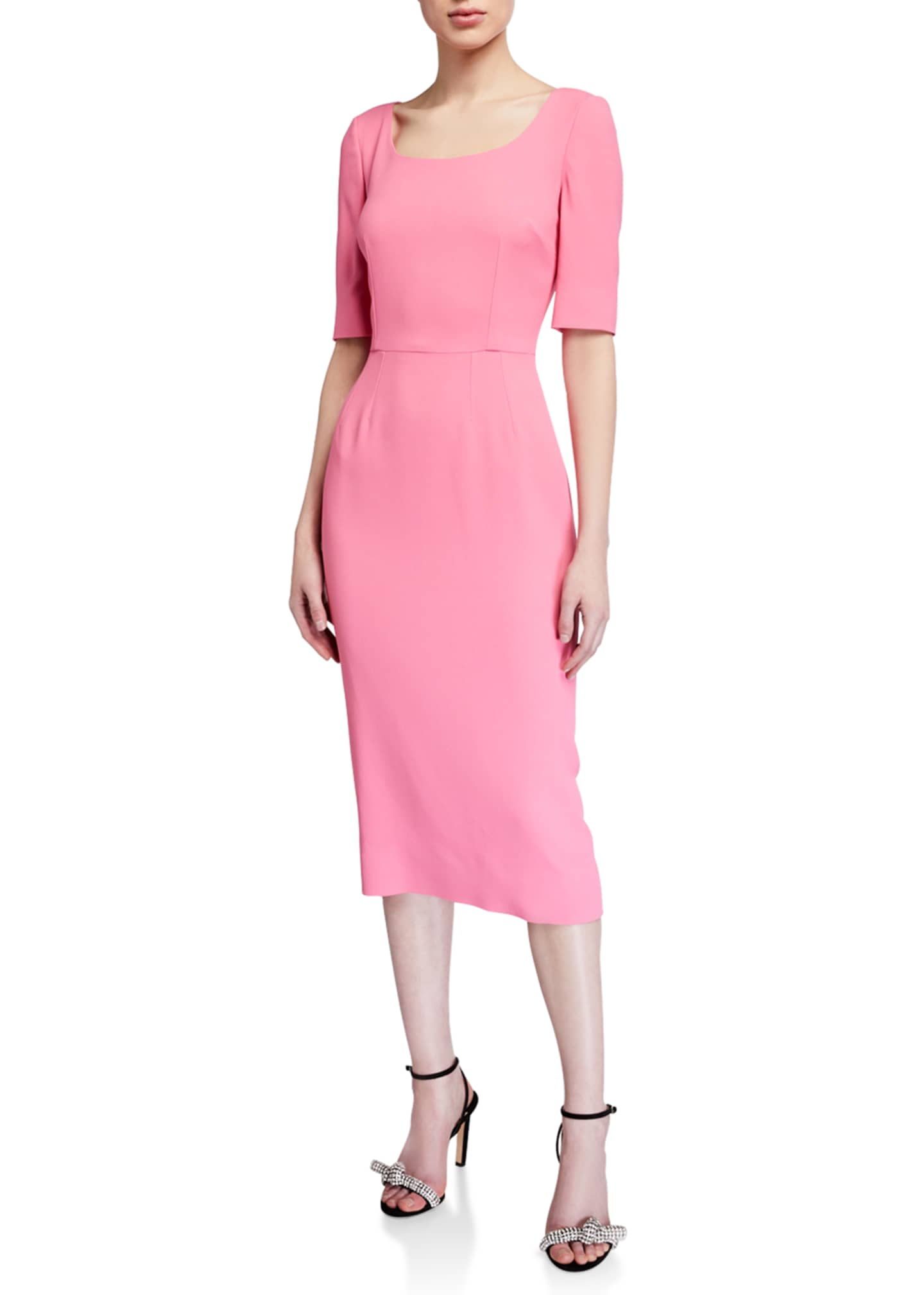 Cady 1/2-Sleeve Sheath Dress