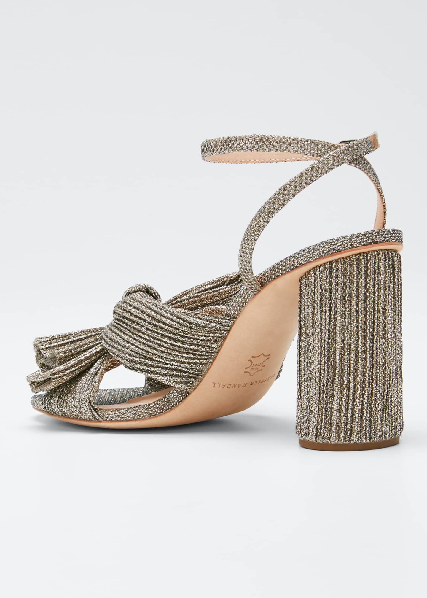 Image 2 of 3: Camellia Knotted Ankle-Strap Sandals