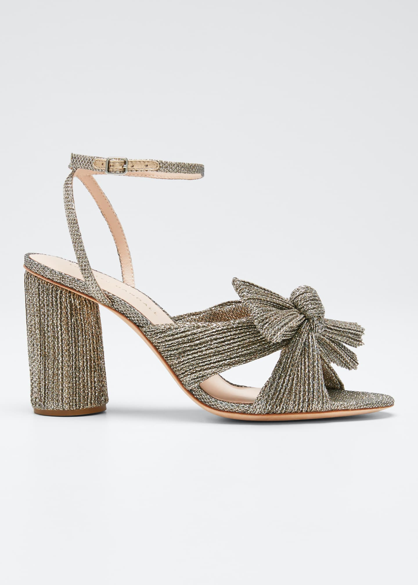 Image 1 of 3: Camellia Knotted Ankle-Strap Sandals