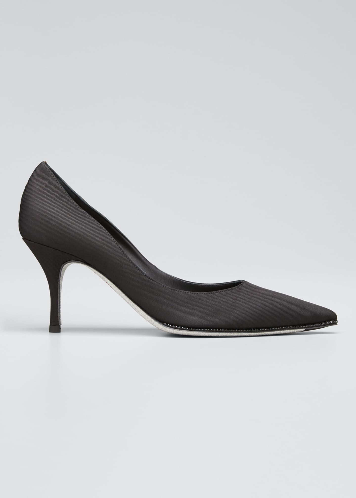 Rene Caovilla Moire Pumps with Crystal Detail