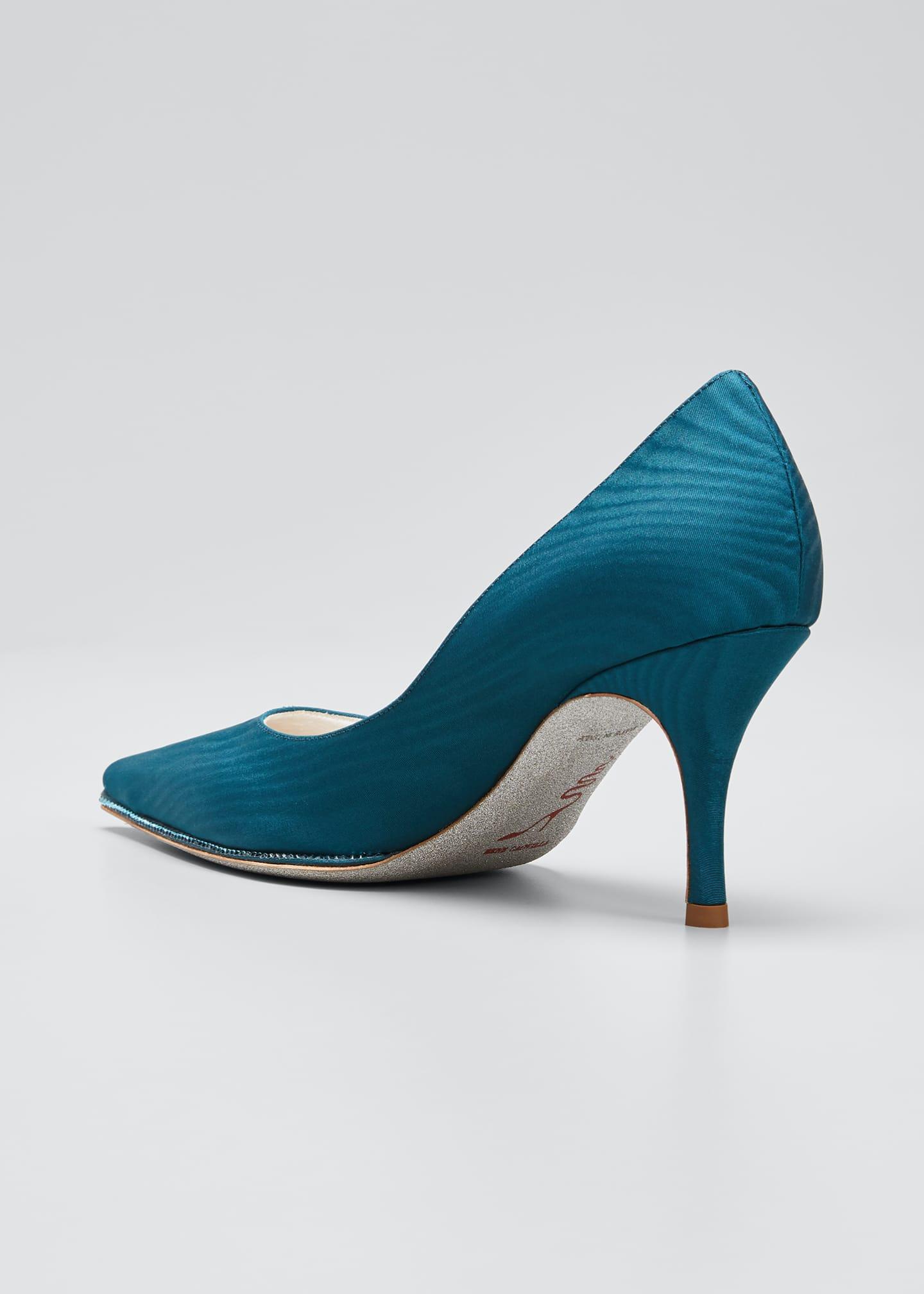 Image 2 of 3: Moire Pumps with Crystal Detail