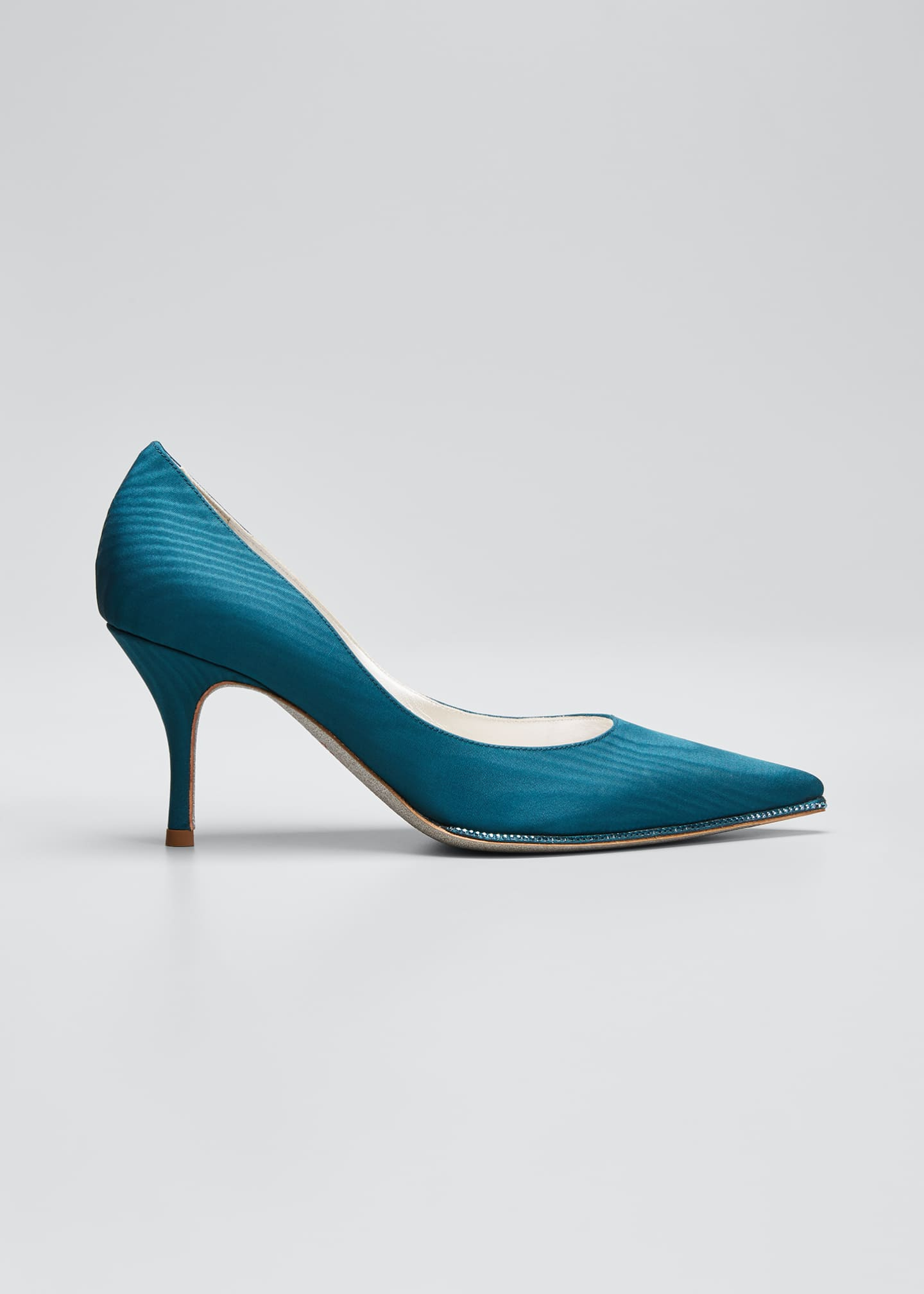 Image 1 of 3: Moire Pumps with Crystal Detail