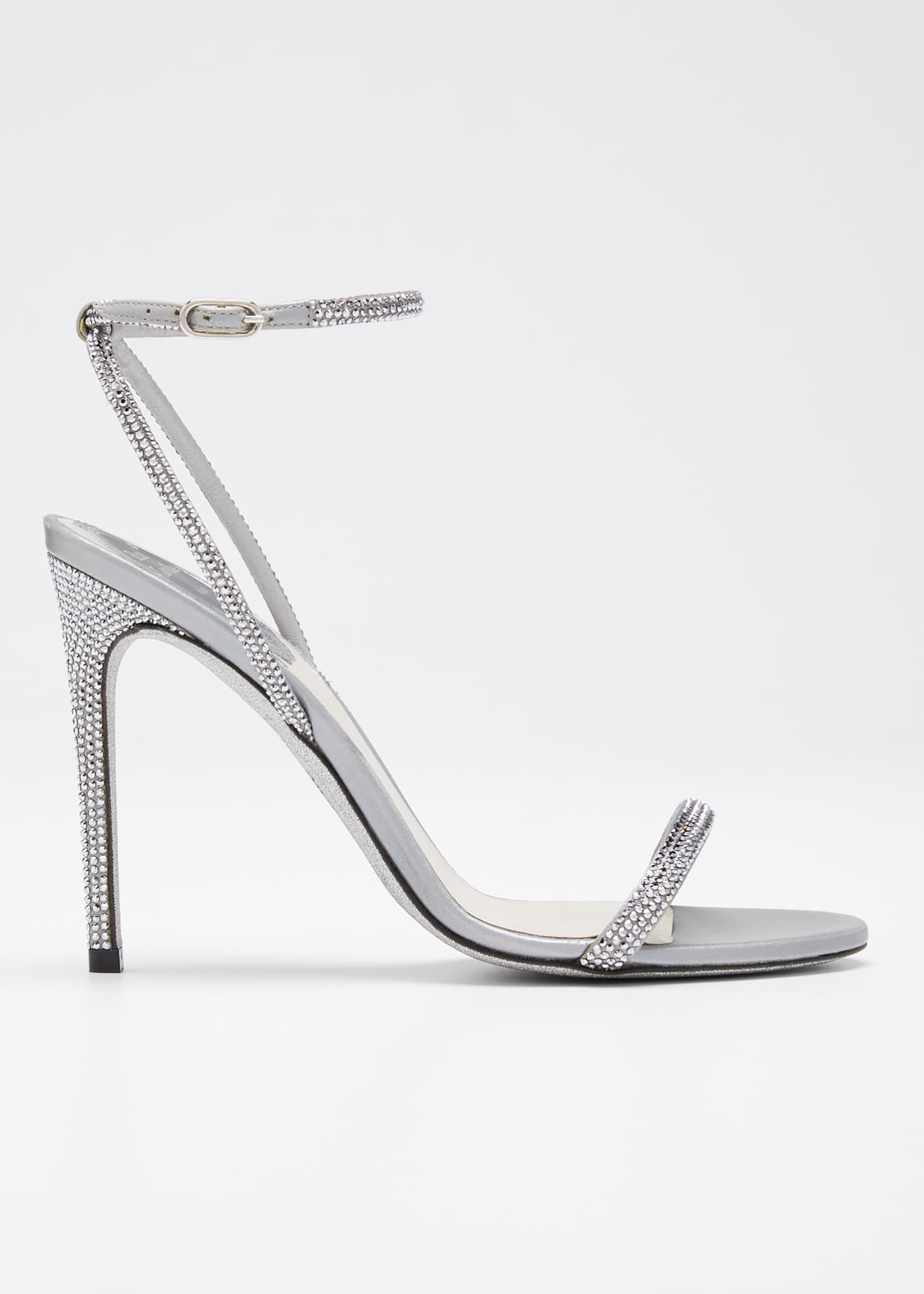Rene Caovilla Crystal Cocktail Ankle-Strap Sandals