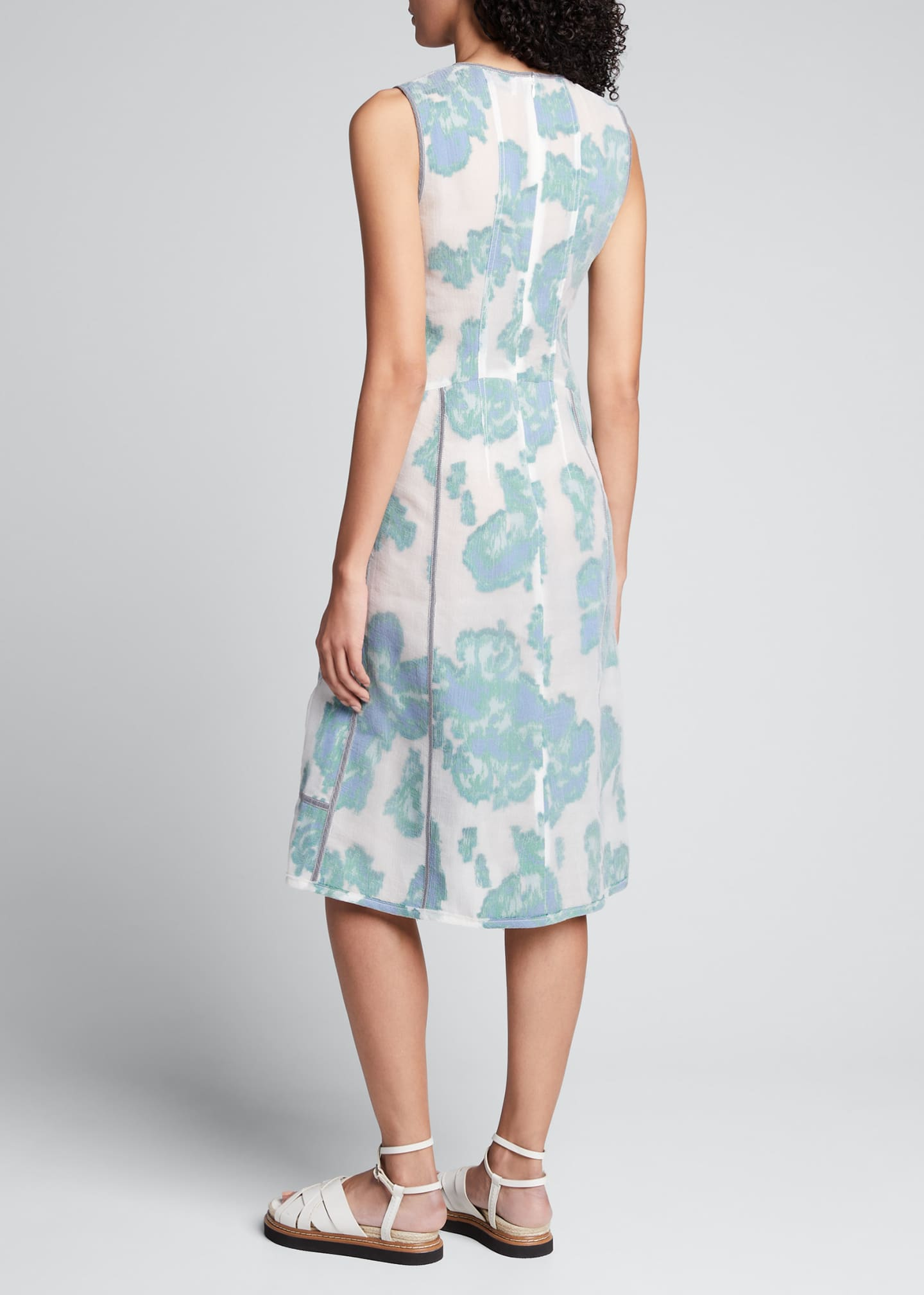 Image 2 of 5: Abstract Daisy Fil Coupe Midi Dress