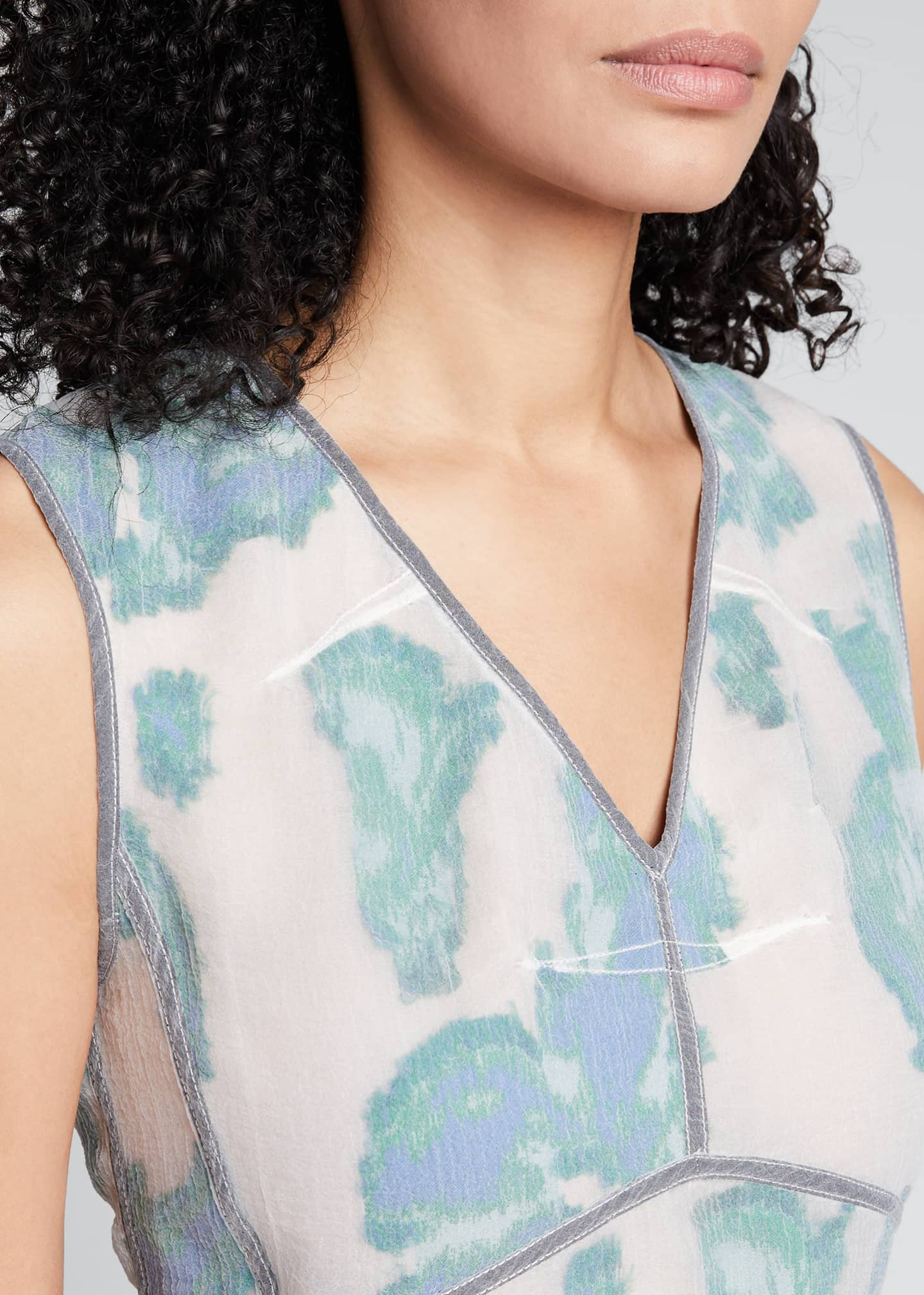 Image 4 of 5: Abstract Daisy Fil Coupe Midi Dress