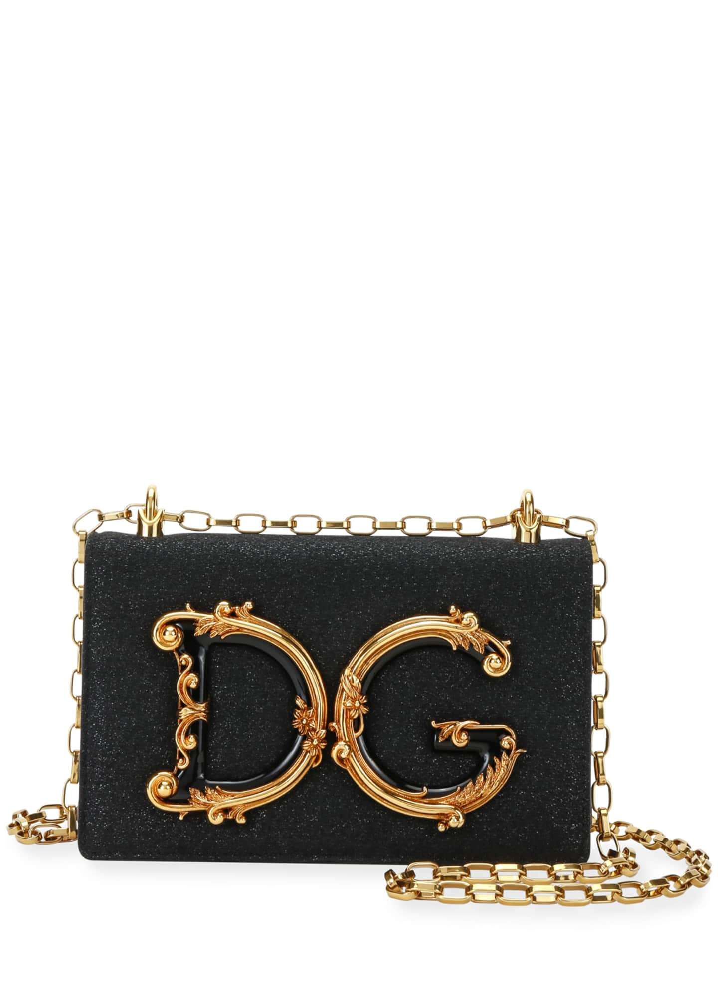 Dolce & Gabbana Baroque Small Shimmery Crossbody Bag
