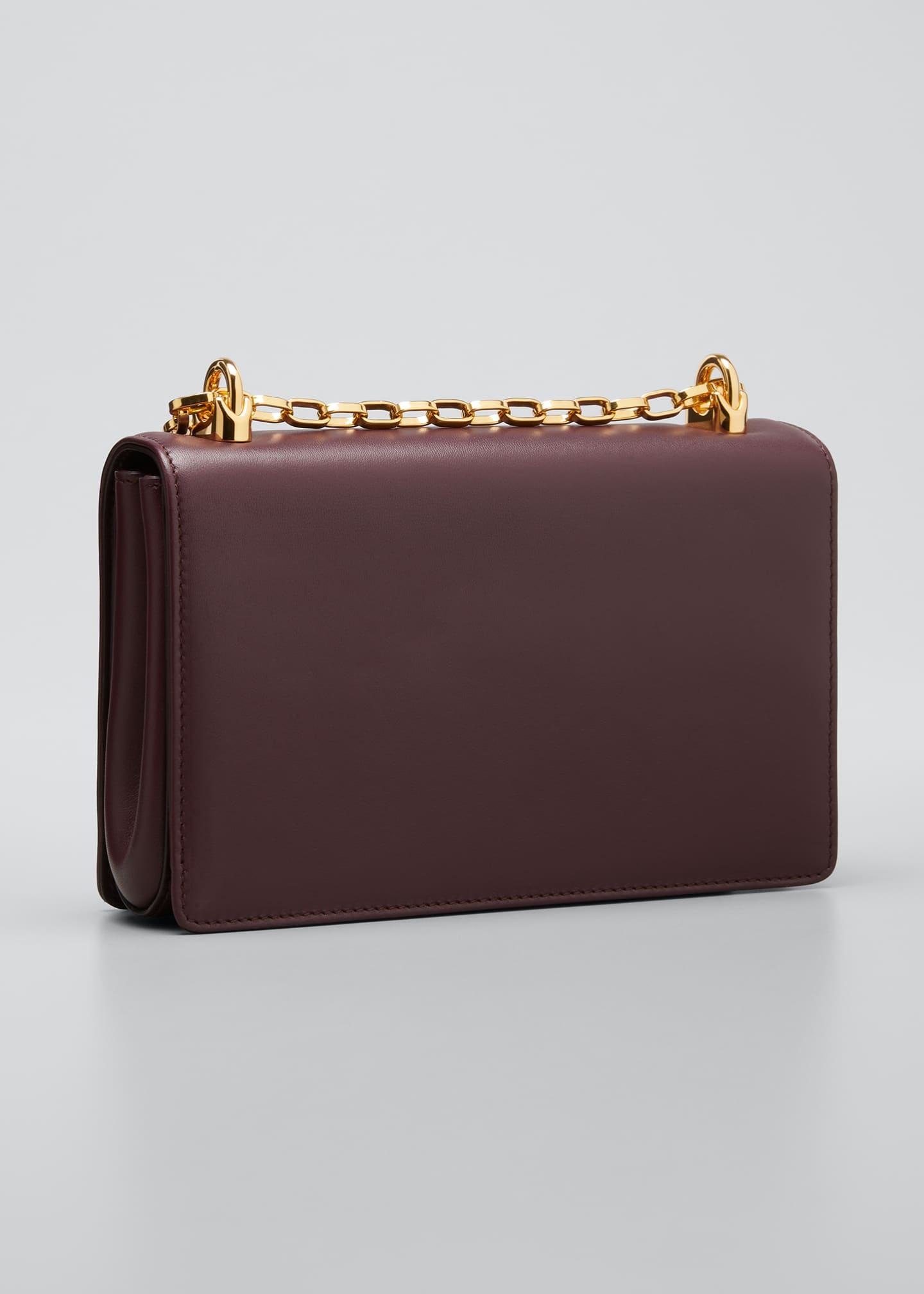 Image 3 of 5: Baroque Small Leather Crossbody Bag