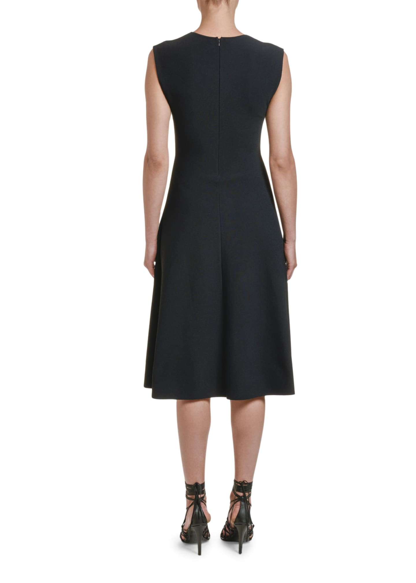 Image 2 of 2: Sleeveless Compact Knit A-Line Dress