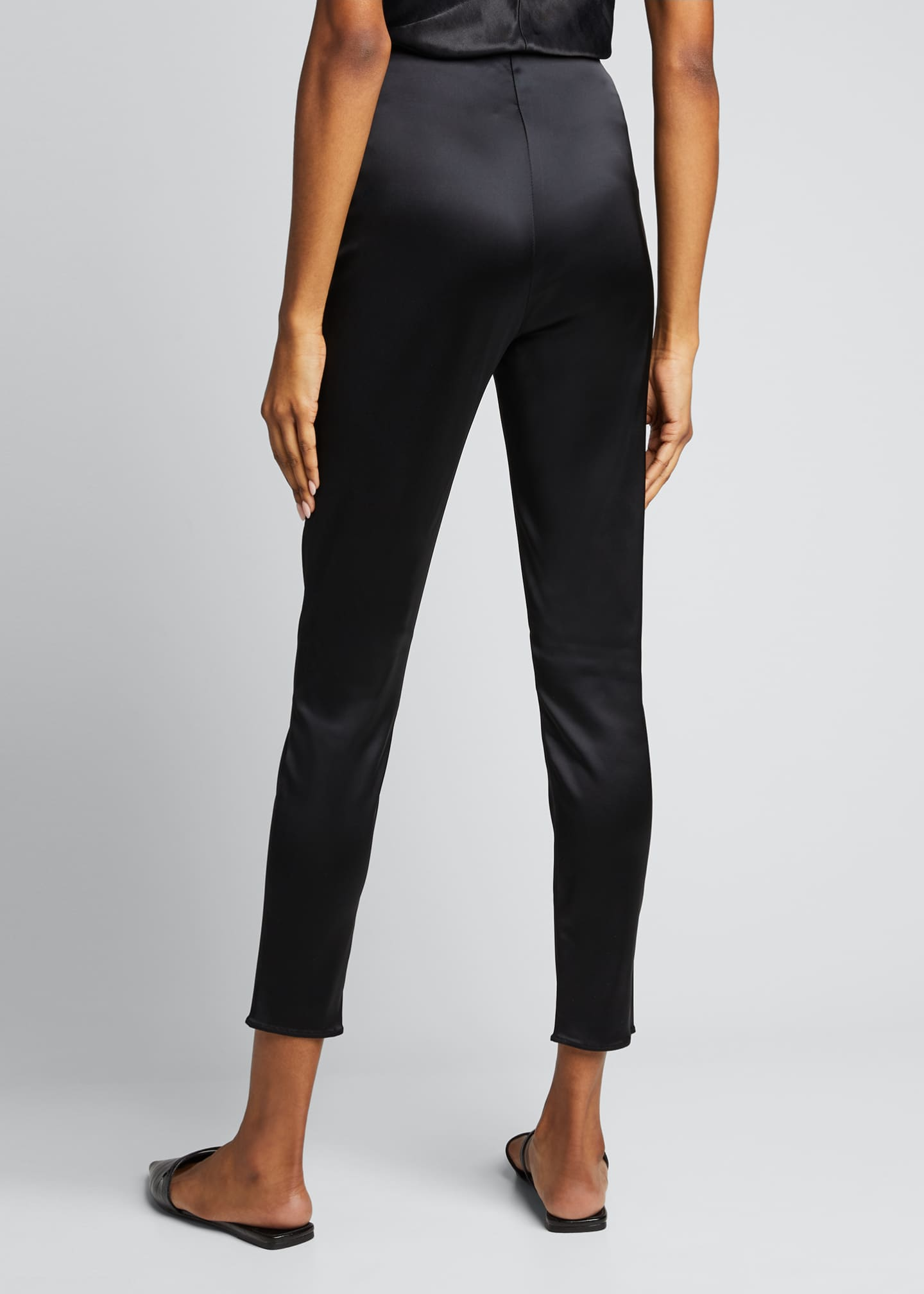 Image 2 of 5: Arrow Satin Pull-On Pants