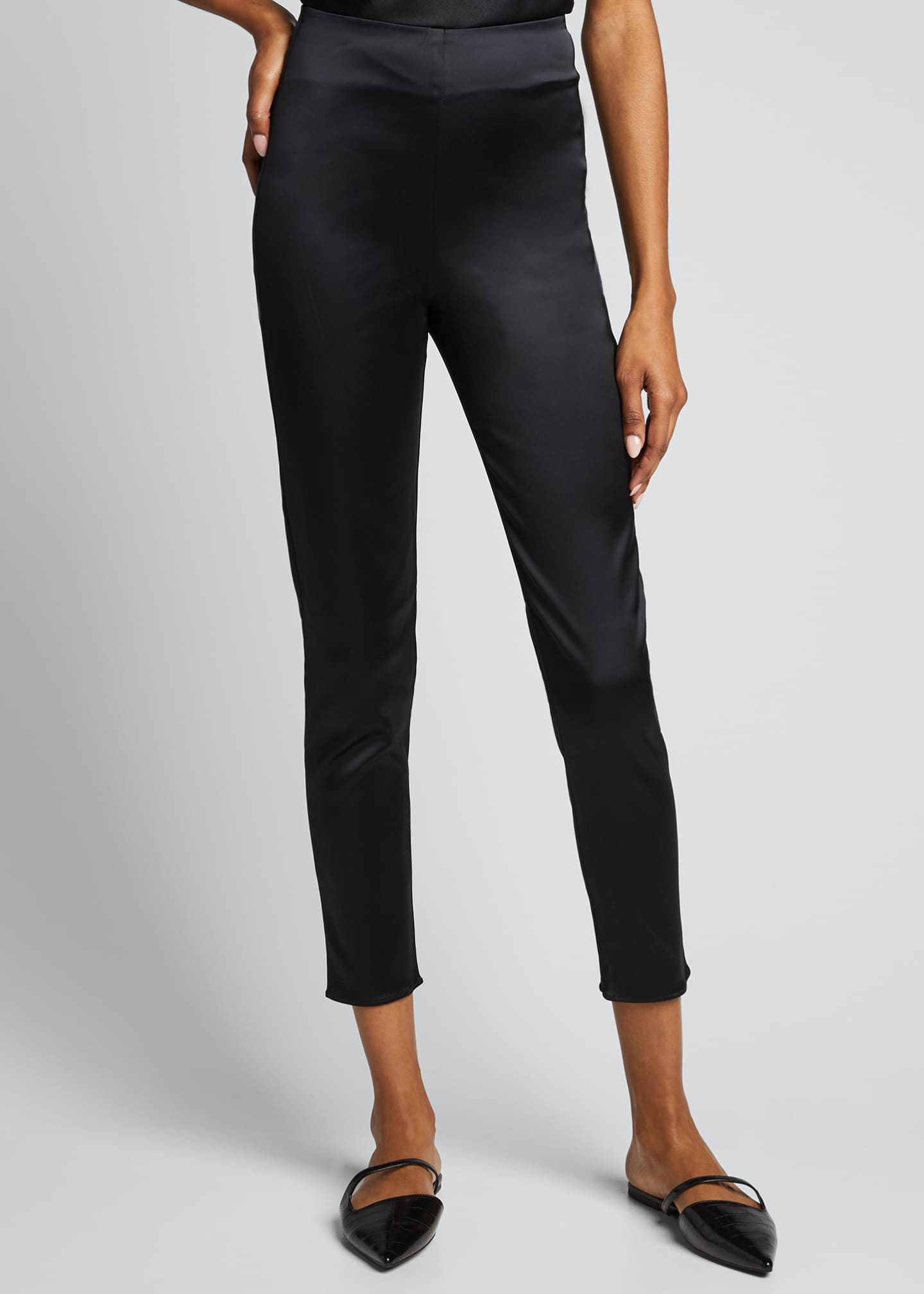 Image 3 of 5: Arrow Satin Pull-On Pants
