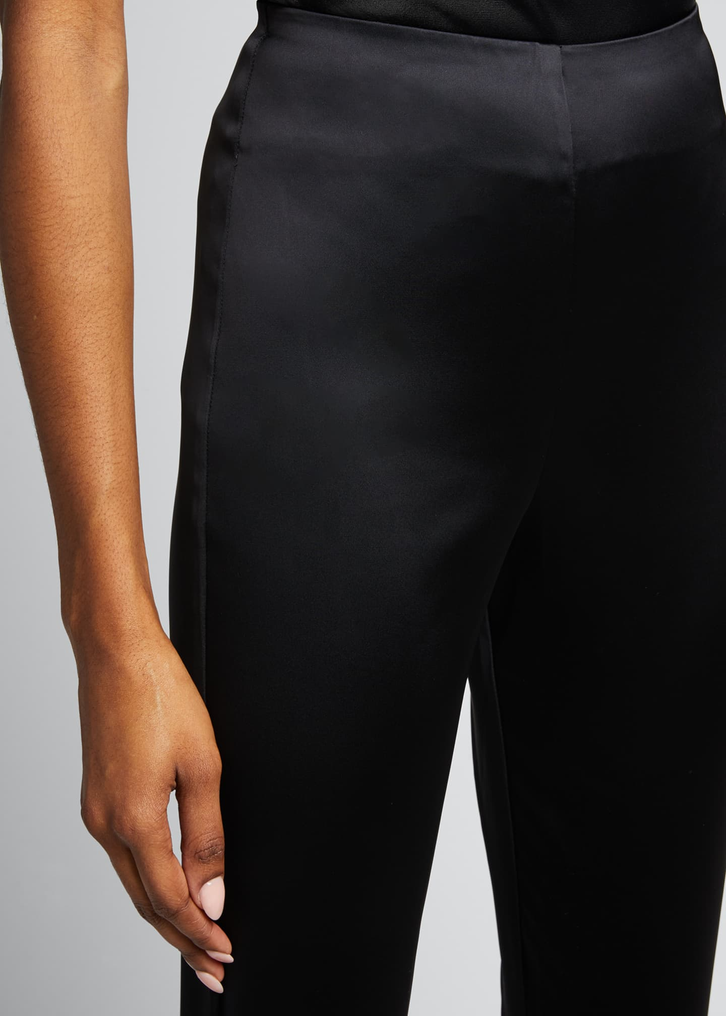 Image 4 of 5: Arrow Satin Pull-On Pants