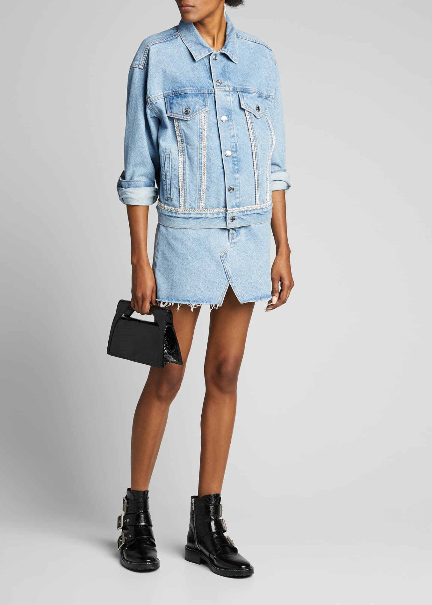 GRLFRND Milla Denim Skirt