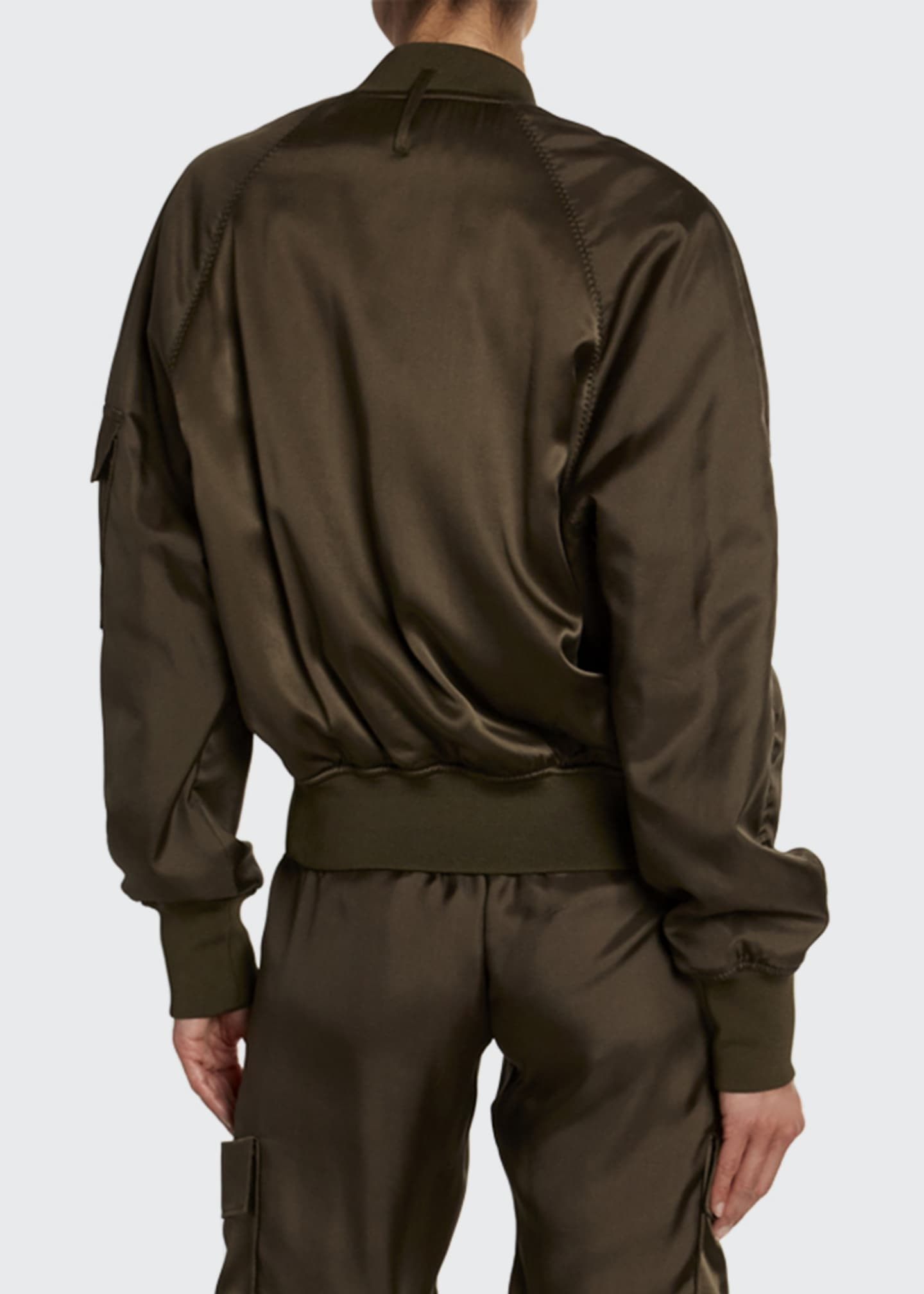 Image 2 of 3: Satin Bomber with Removable Scarf