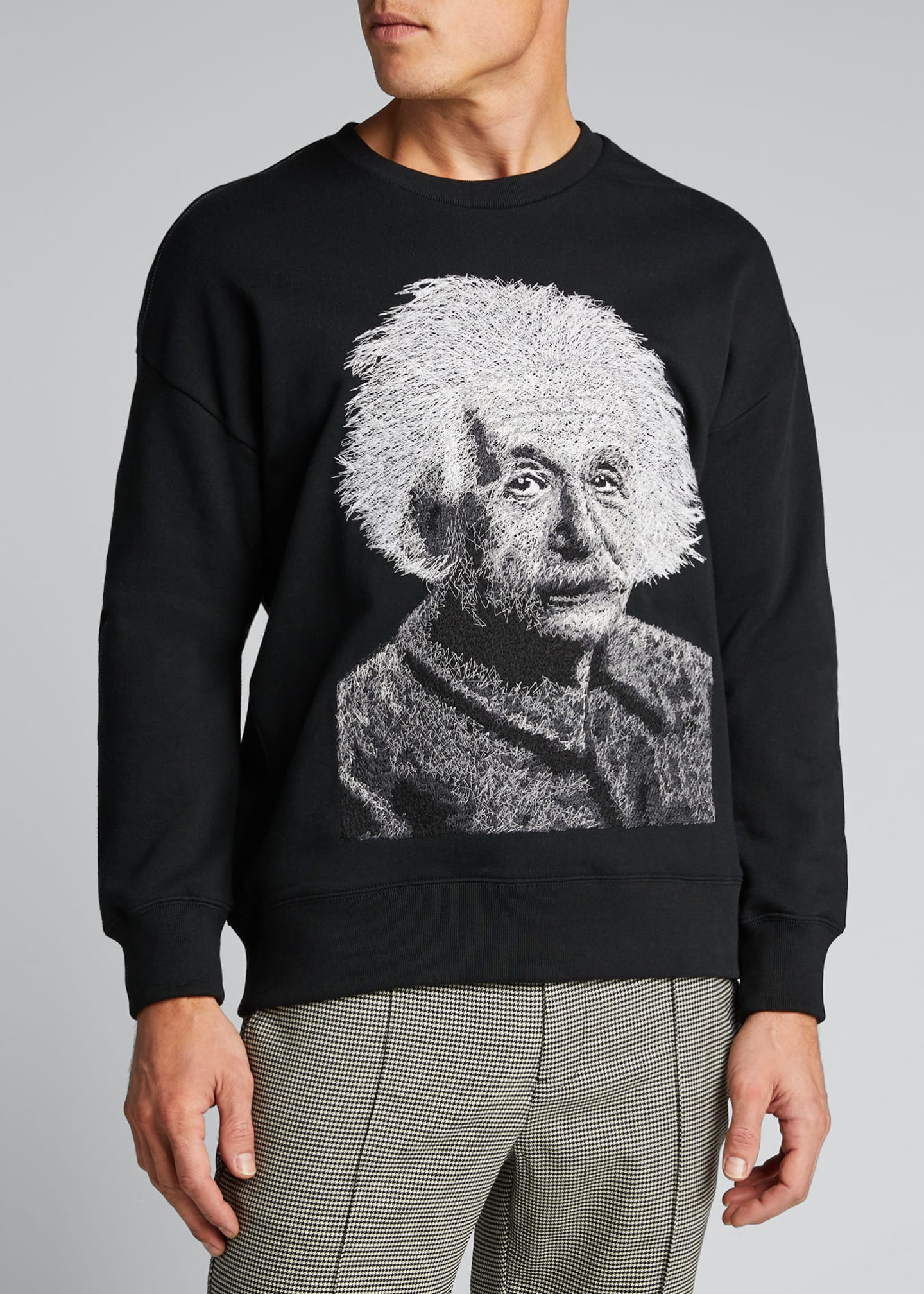 Image 3 of 5: Men's Einstein Graphic French-Terry Crewneck Sweatshirt