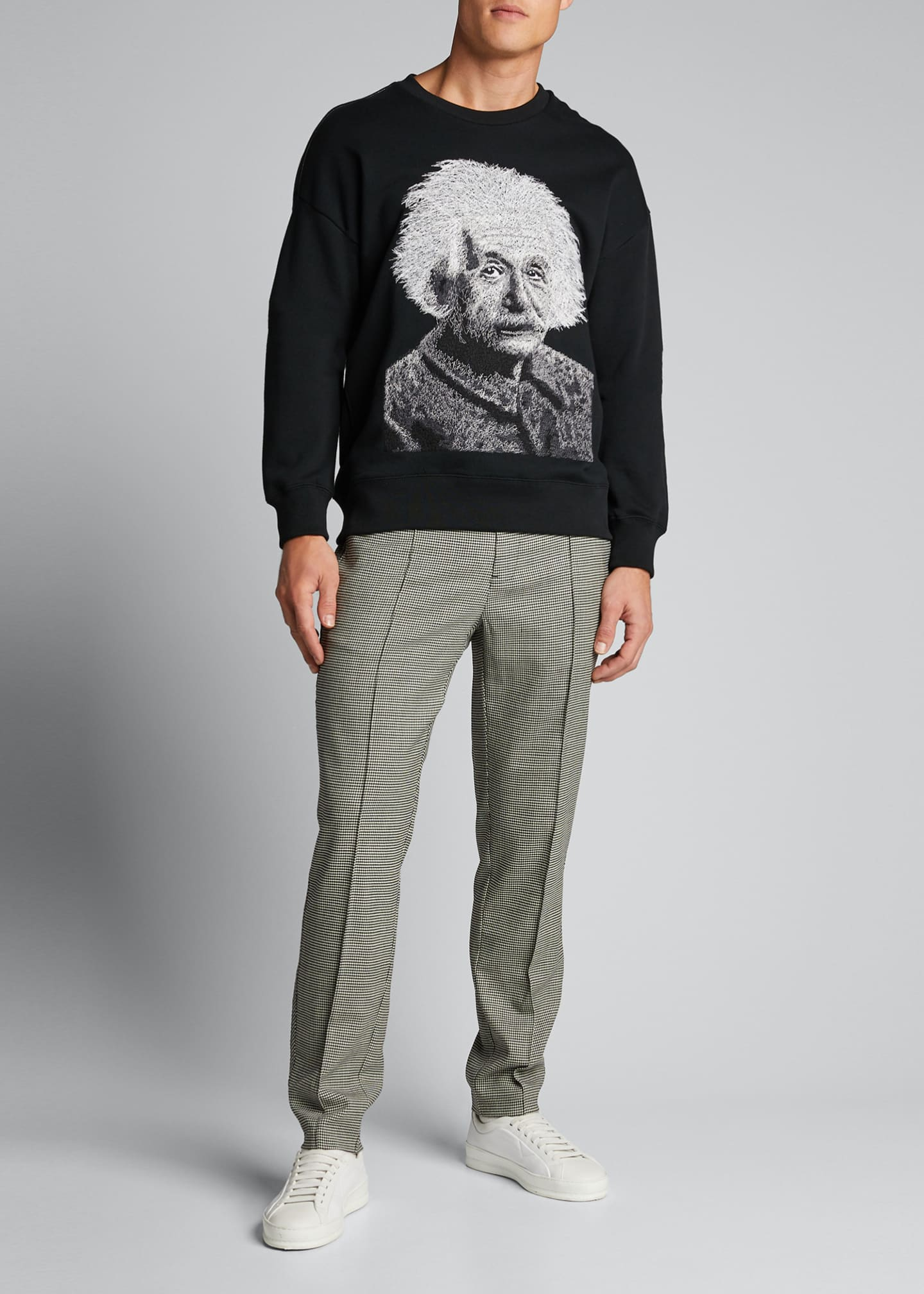Image 1 of 5: Men's Einstein Graphic French-Terry Crewneck Sweatshirt