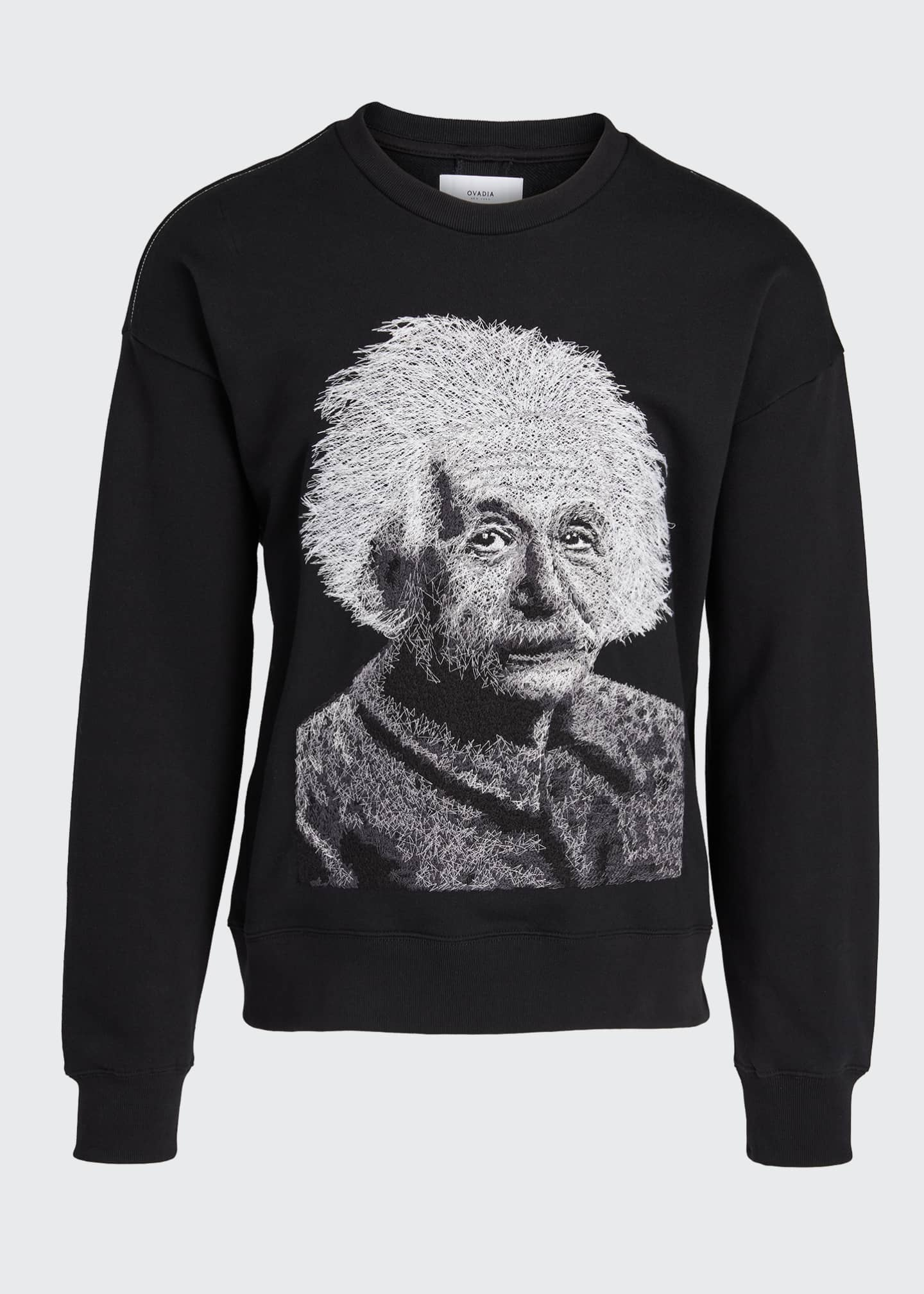 Image 5 of 5: Men's Einstein Graphic French-Terry Crewneck Sweatshirt