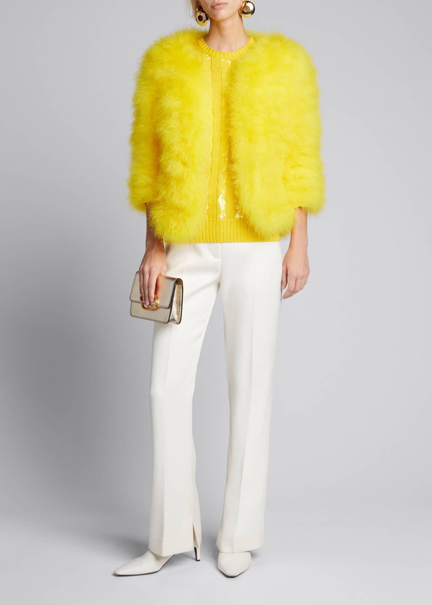 Ralph Lauren Collection Adalyn Feather Coat