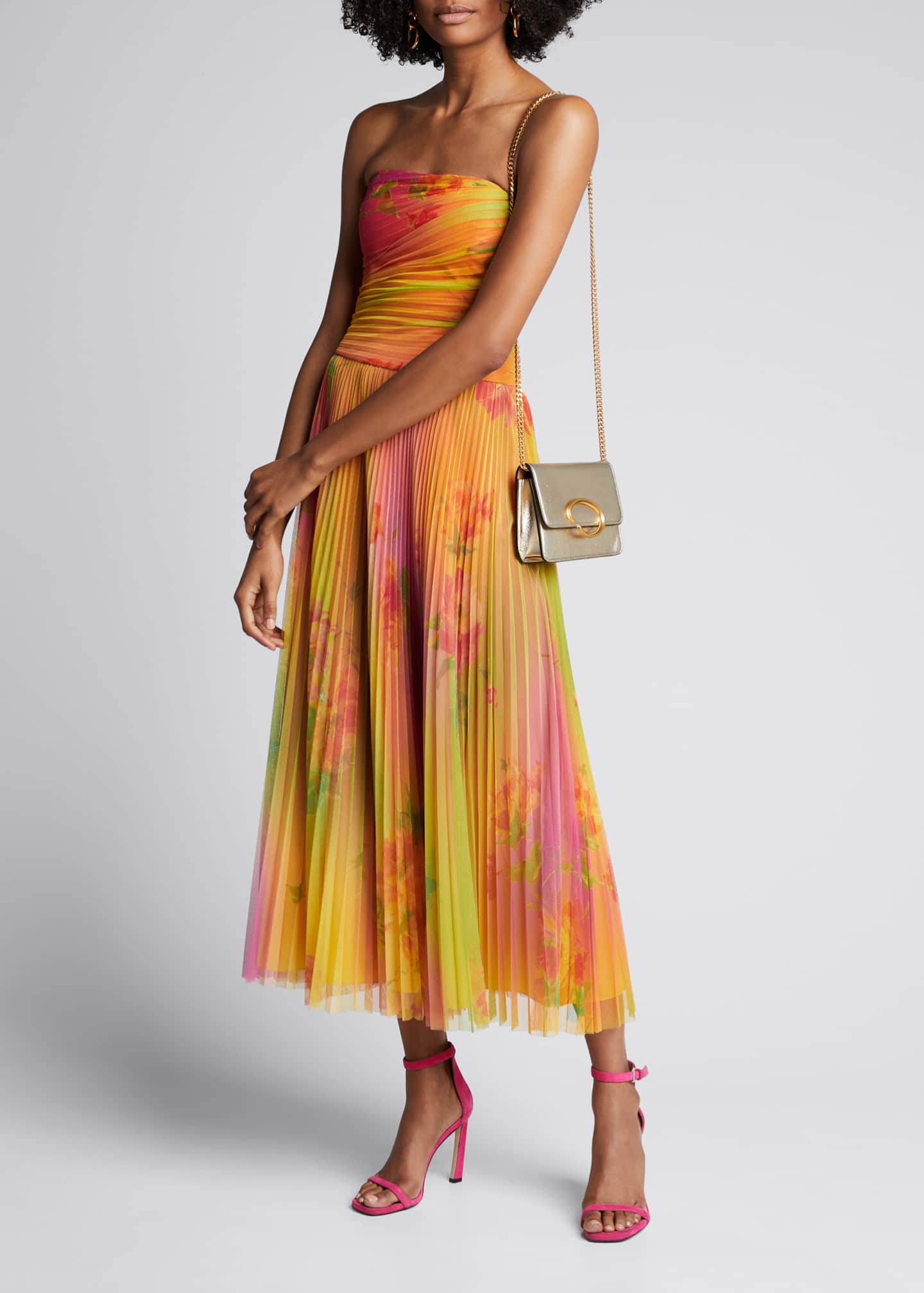 Ralph Lauren Collection Eloise Strapless Plisse Dress