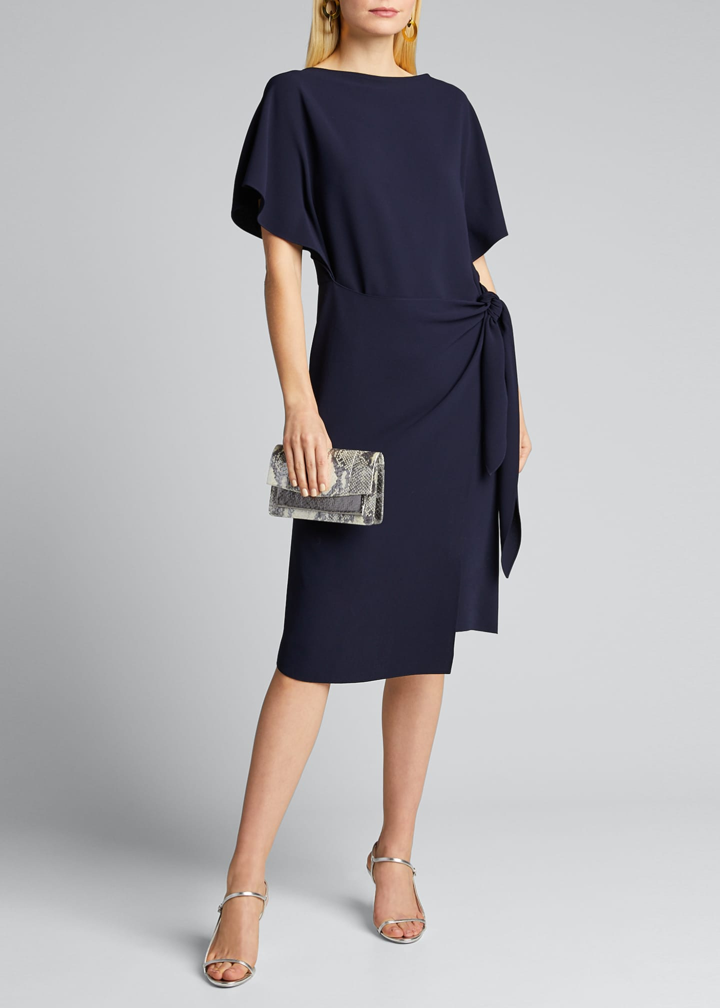 Ralph Lauren Collection Wayland Short-Sleeve Wrap Dress