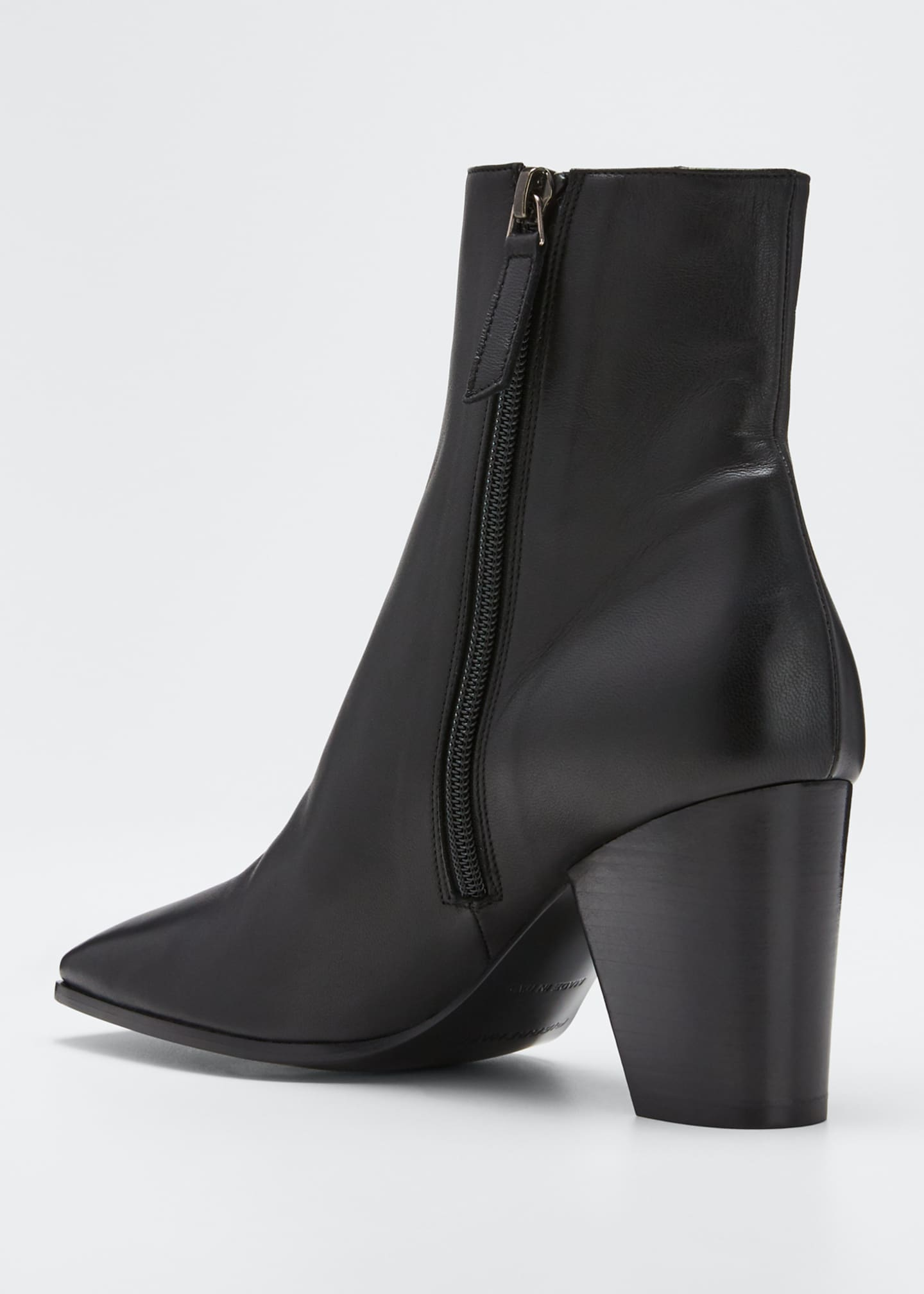 Image 4 of 5: Dalva Leather Square Booties