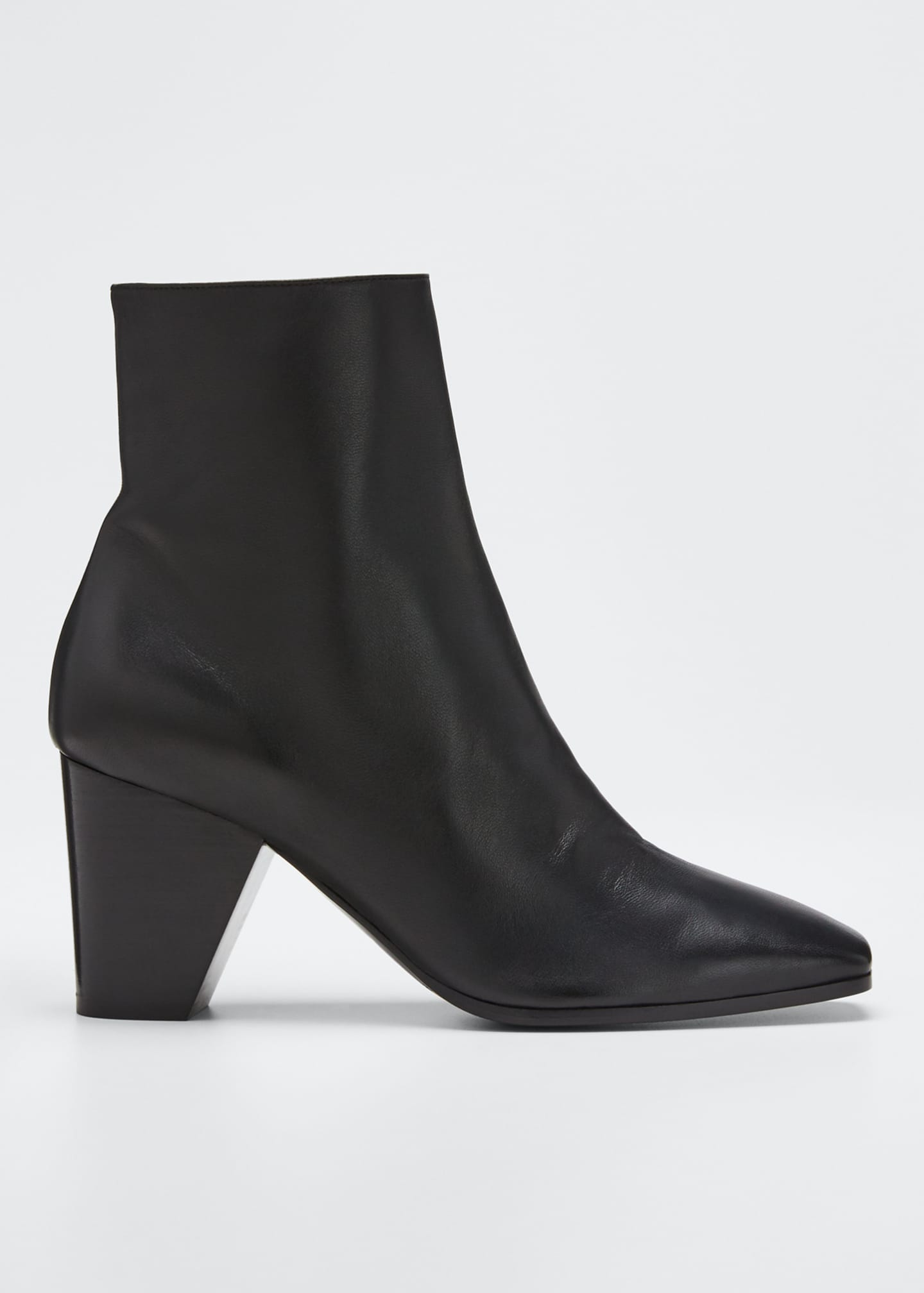 Dalva Leather Square Booties