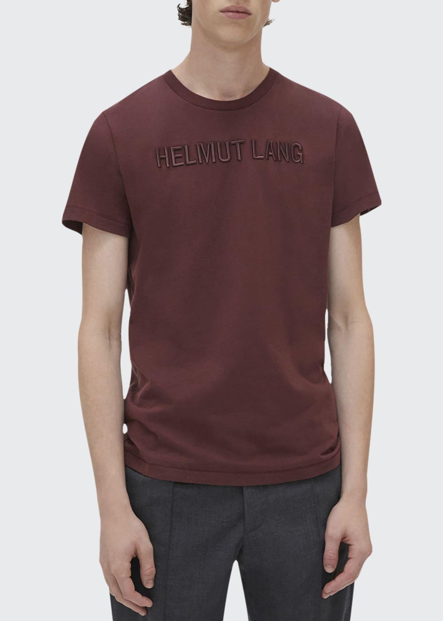 Helmut Lang Men's Raised Embroidery T-Shirt