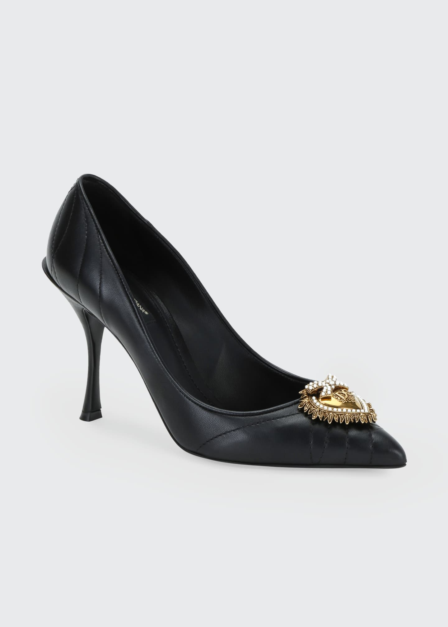 Image 2 of 4: Devotion Leather Pointed Pumps