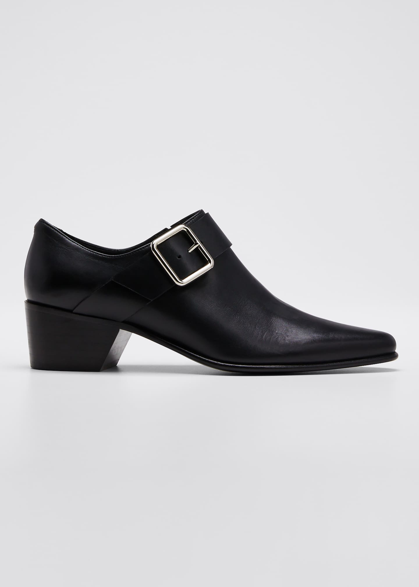 Pierre Hardy Joni Leather Buckle Loafers