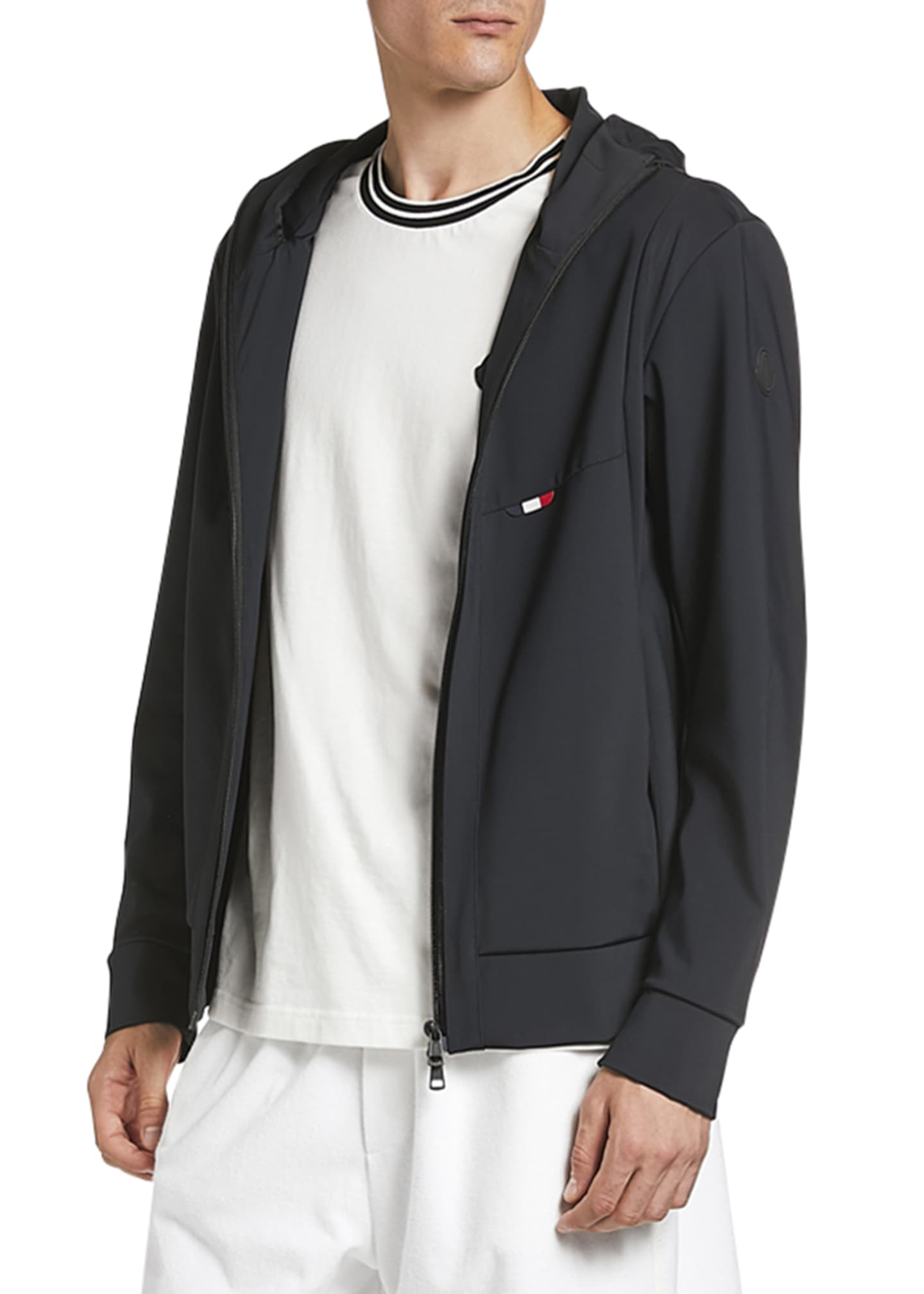 Image 2 of 2: Men's Zip-Front Hooded Knit Jacket