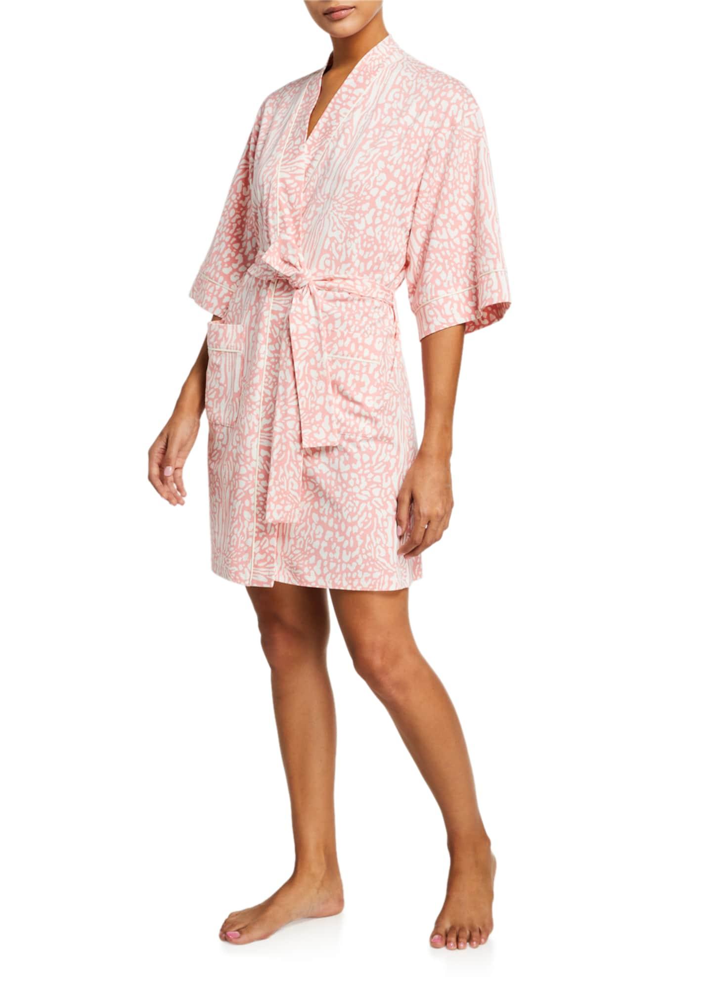 BedHead Pajamas Leopard-Print Kimono Robe