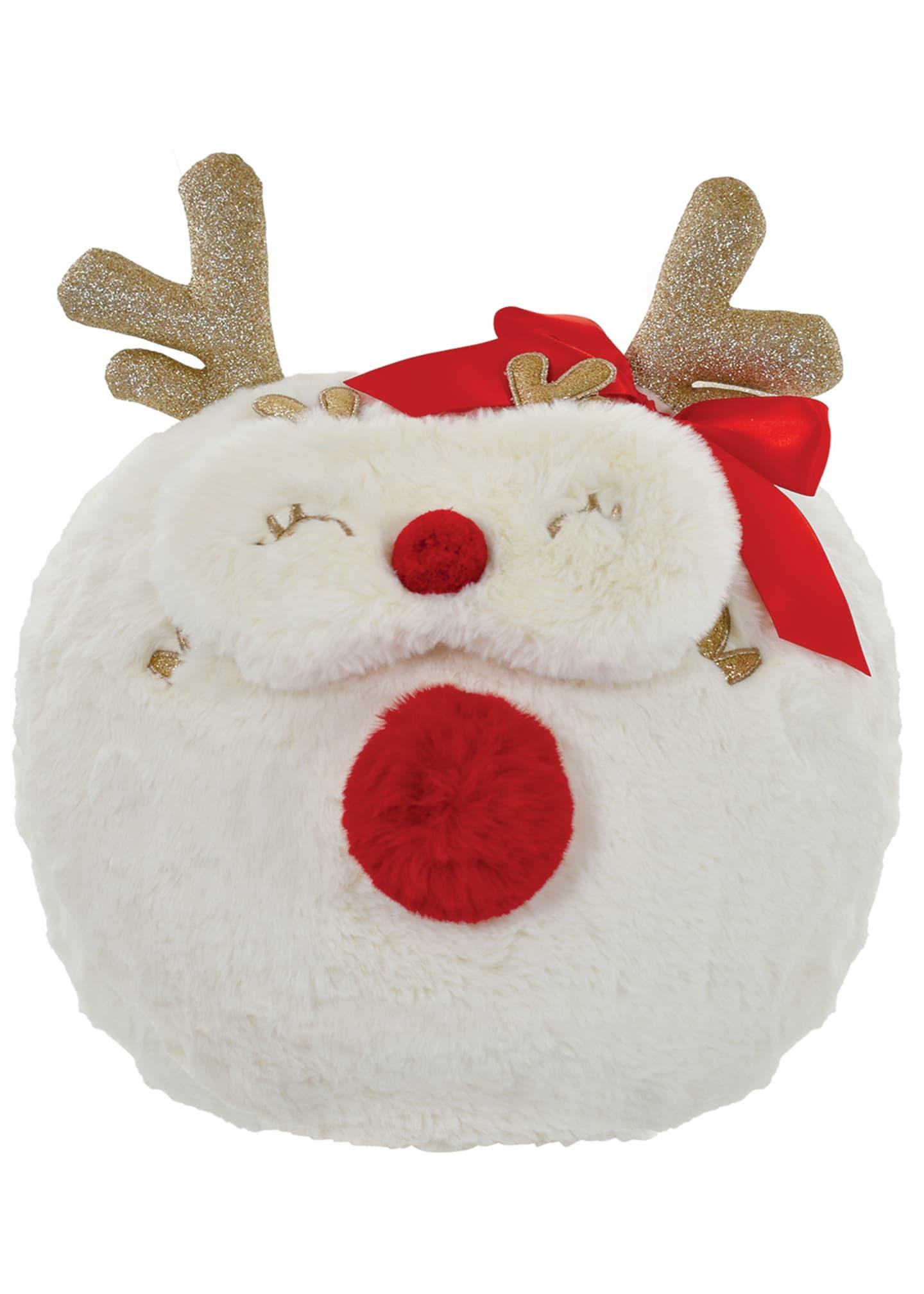Iscream Girl's Reindeer Pillow & Eye Mask Bundle