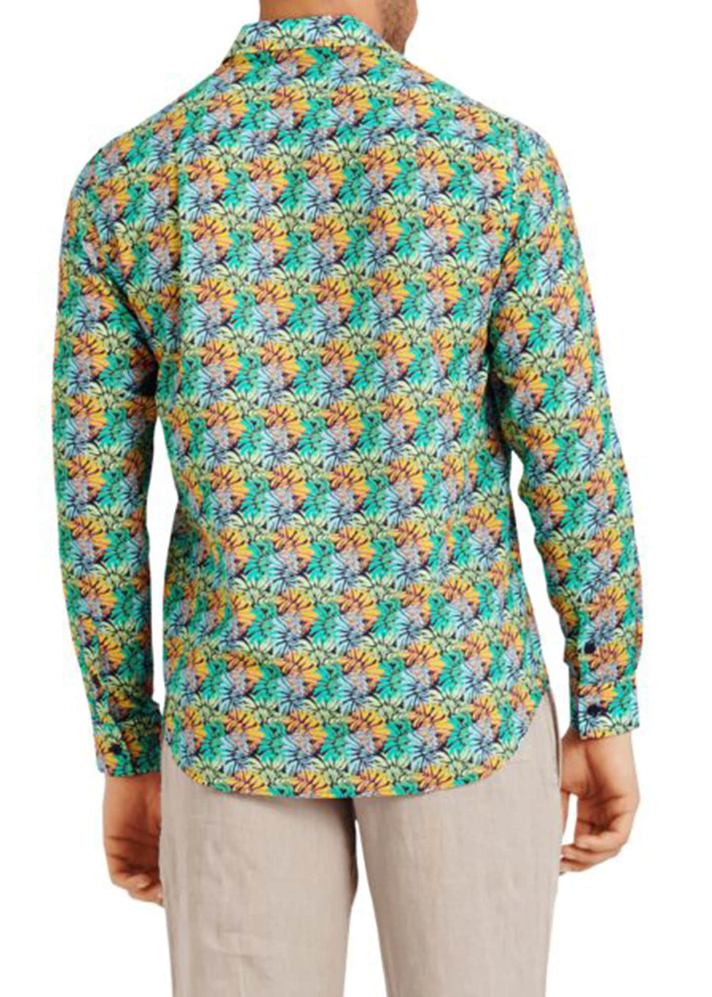 Image 2 of 2: Men's Jungle-Print Sport Shirt