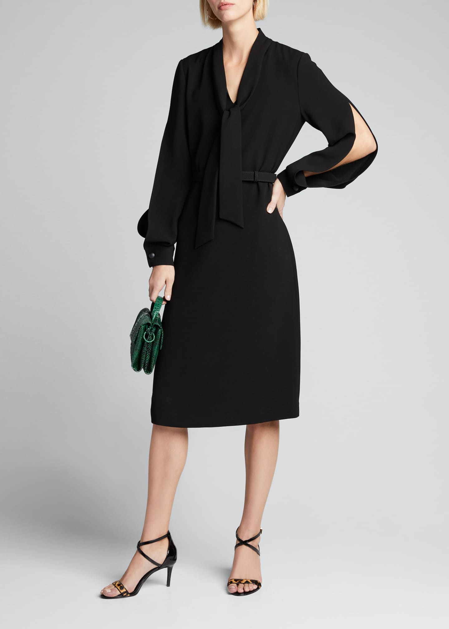 Lafayette 148 New York Genevive Split Sleeve Finesse