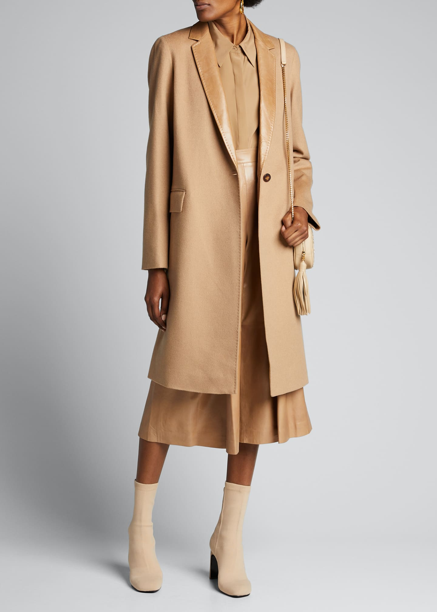 Lafayette 148 New York Marabela Camel Hair Coat