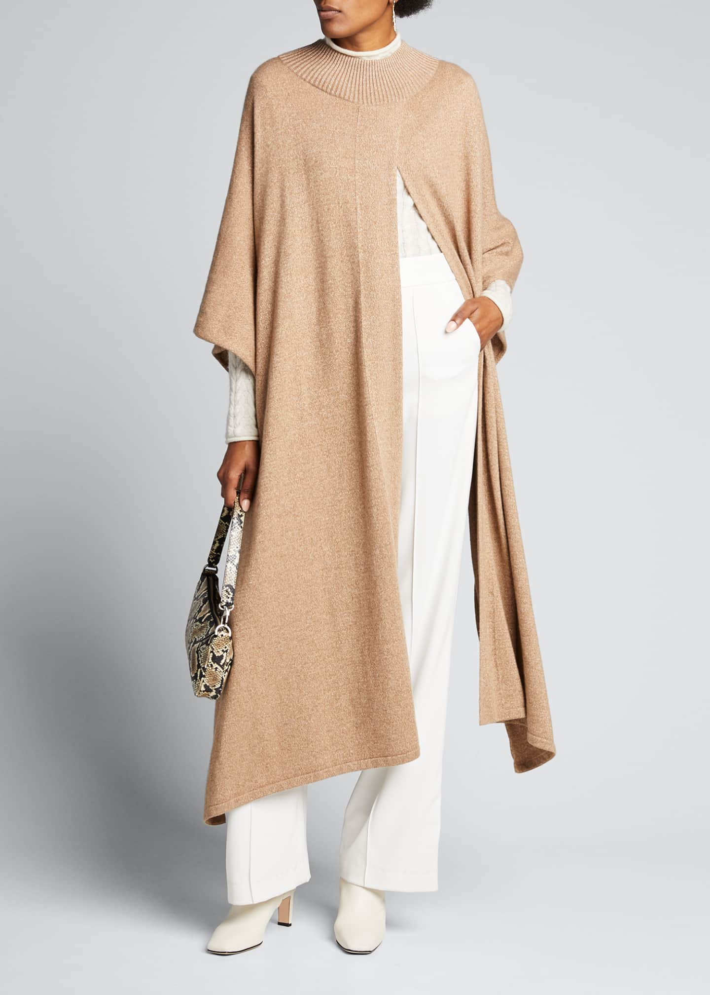 Lafayette 148 New York Knit Cape with Lurex