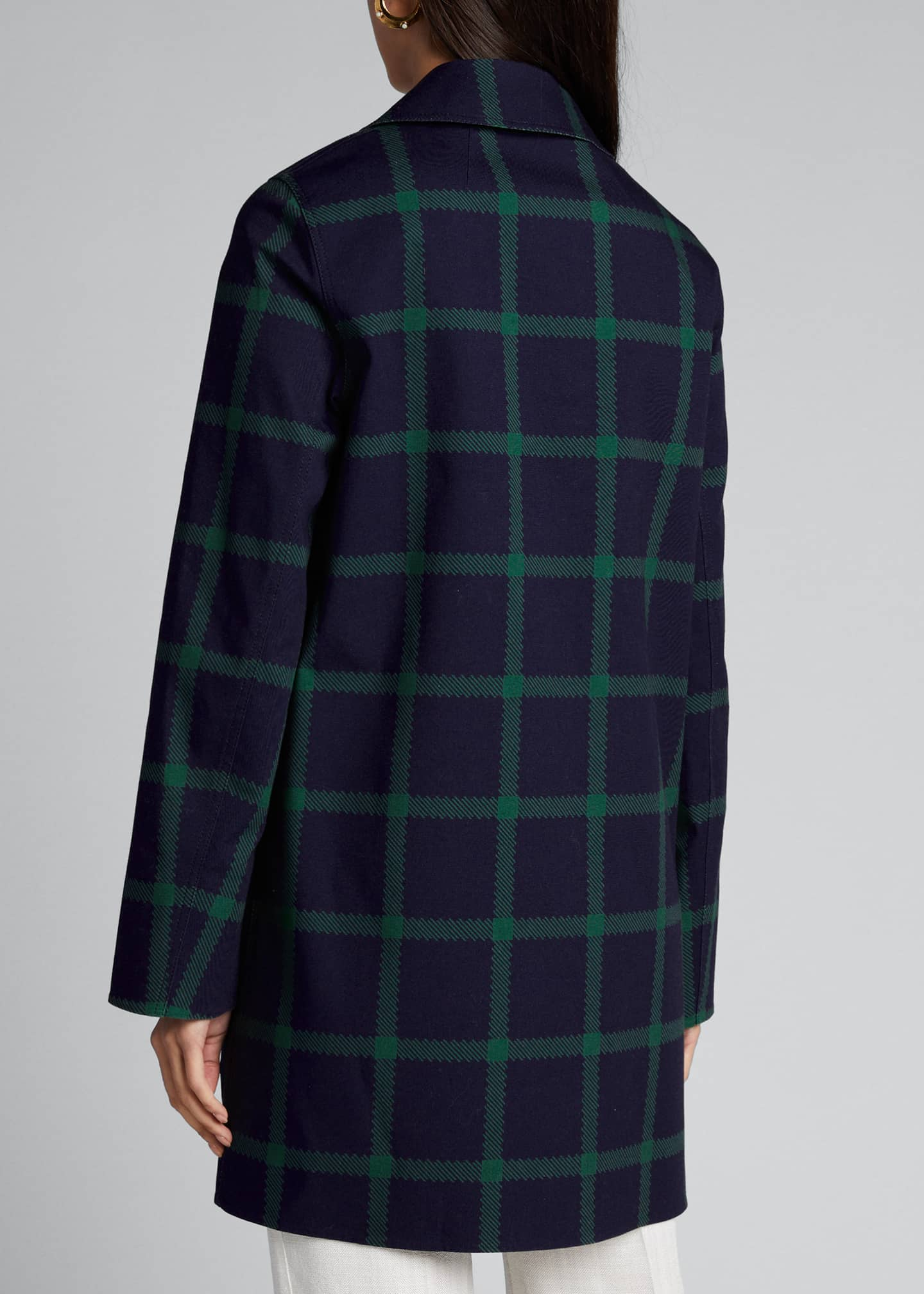 Image 2 of 5: Mckinleigh Crosshatch Cotton Plaid Button-Front Coat