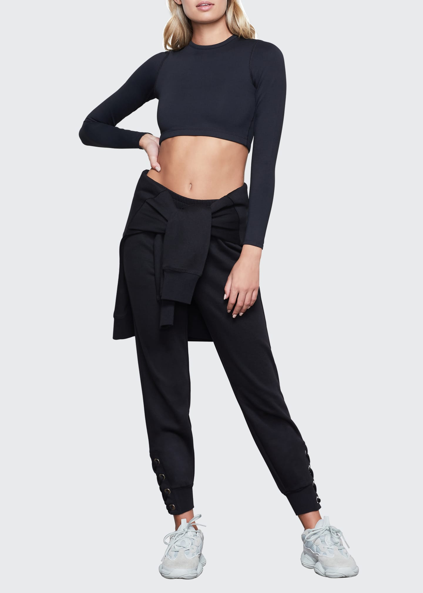 Image 1 of 3: Lace-Up Jogger Pants - Inclusive Sizing