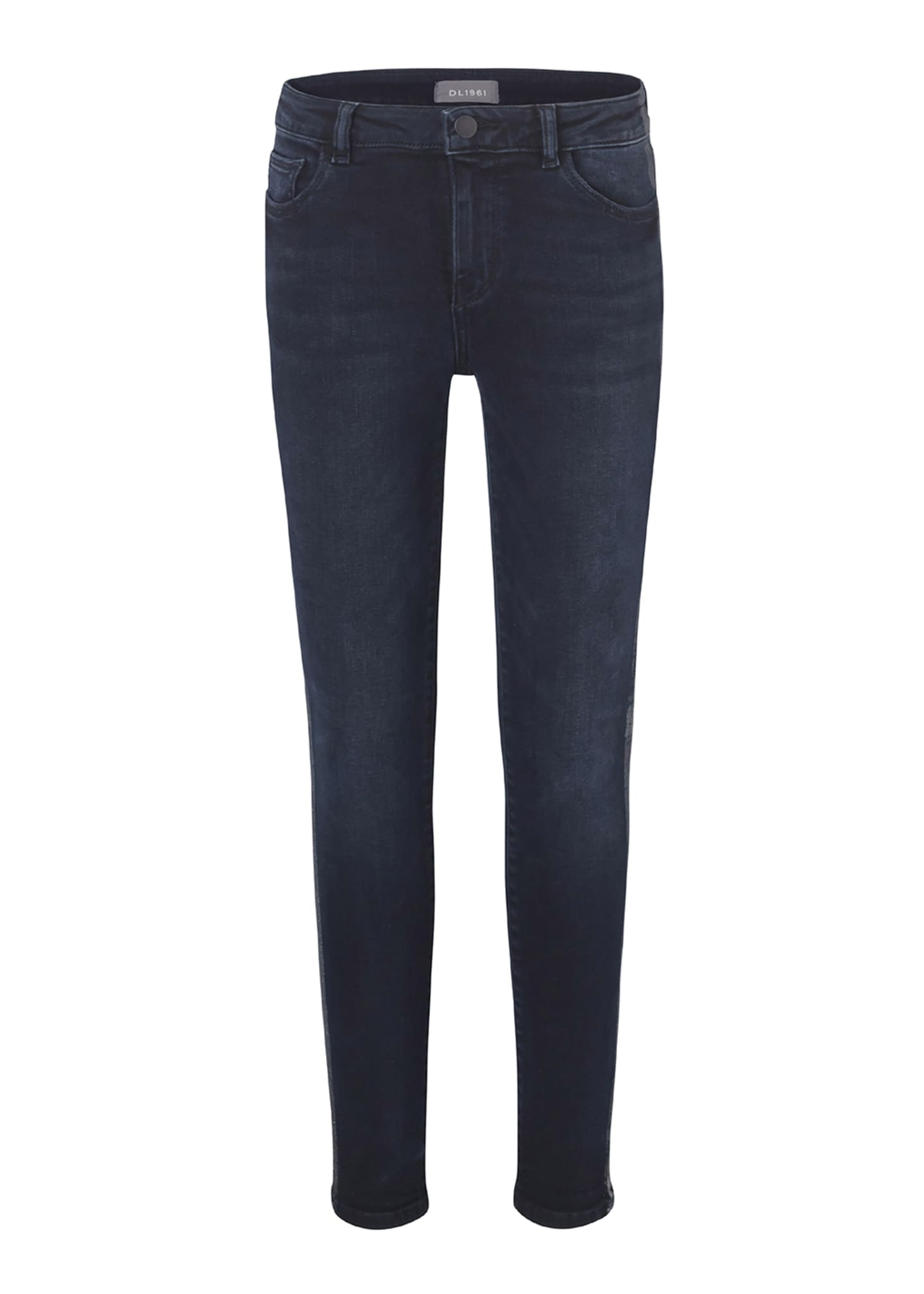 DL1961 Premium Denim Girl's Chloe Skinny Metallic Side-Taping
