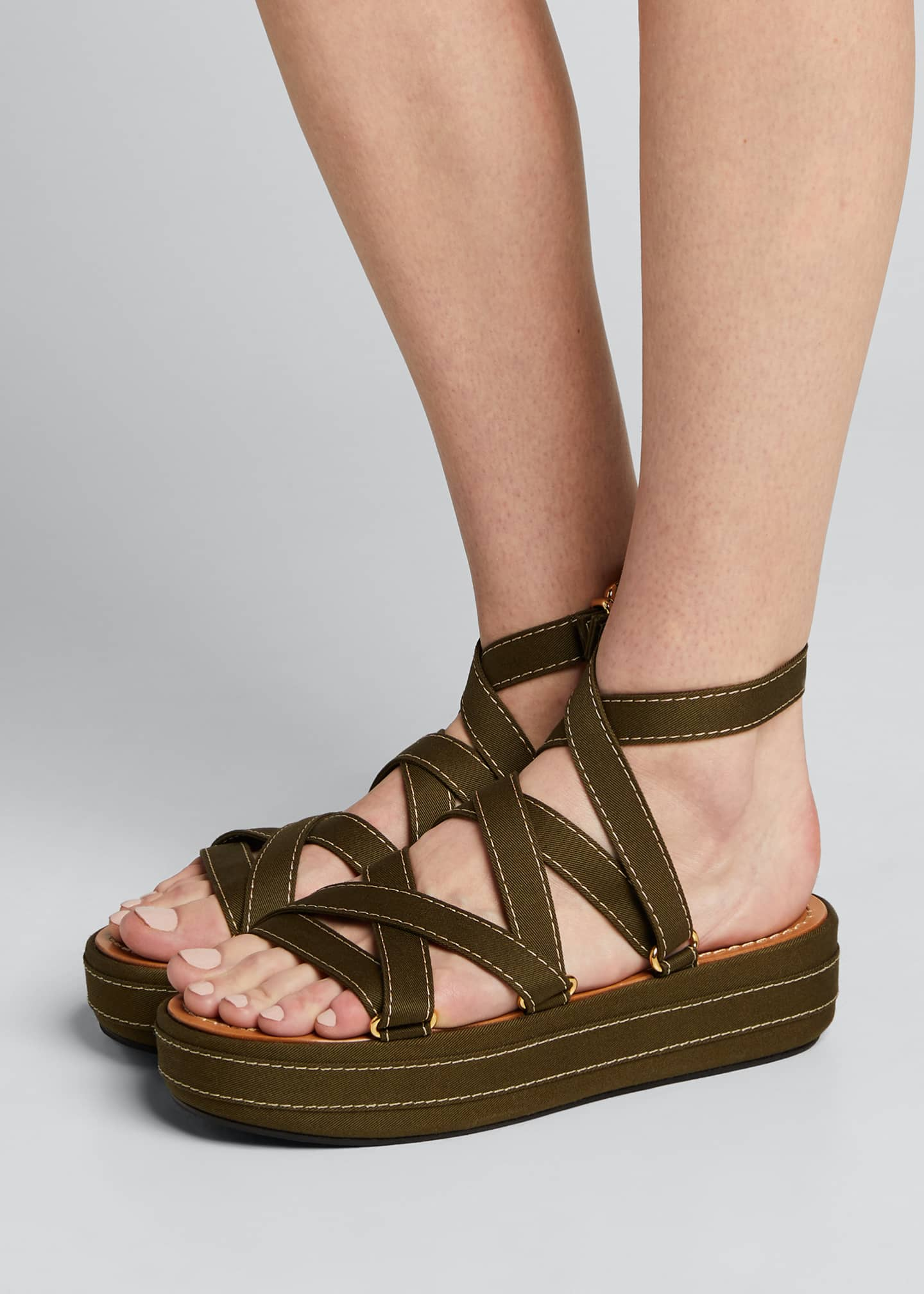Image 2 of 5: Adventurer Platform Ankle Sandals
