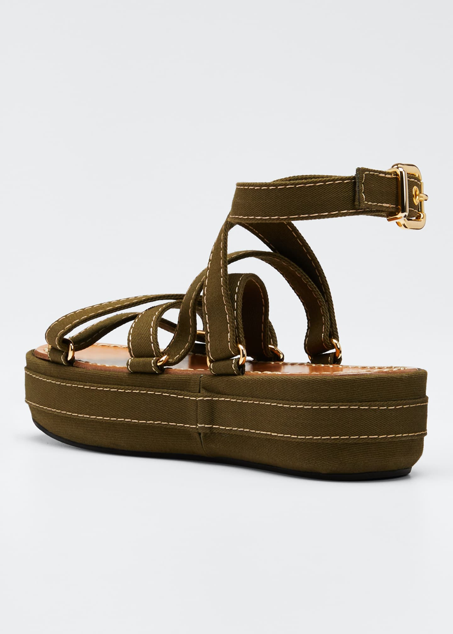 Image 4 of 5: Adventurer Platform Ankle Sandals