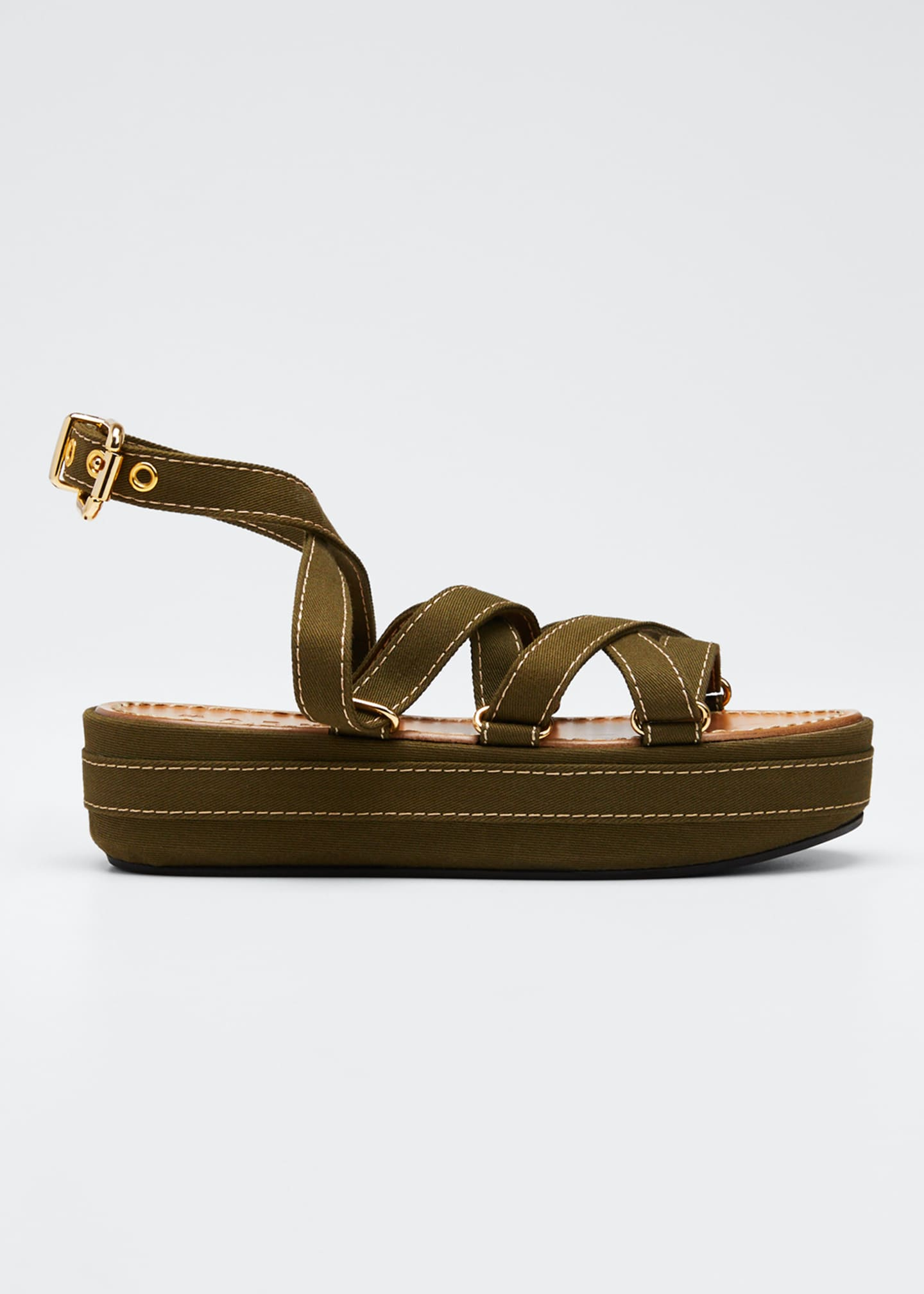 Image 1 of 5: Adventurer Platform Ankle Sandals