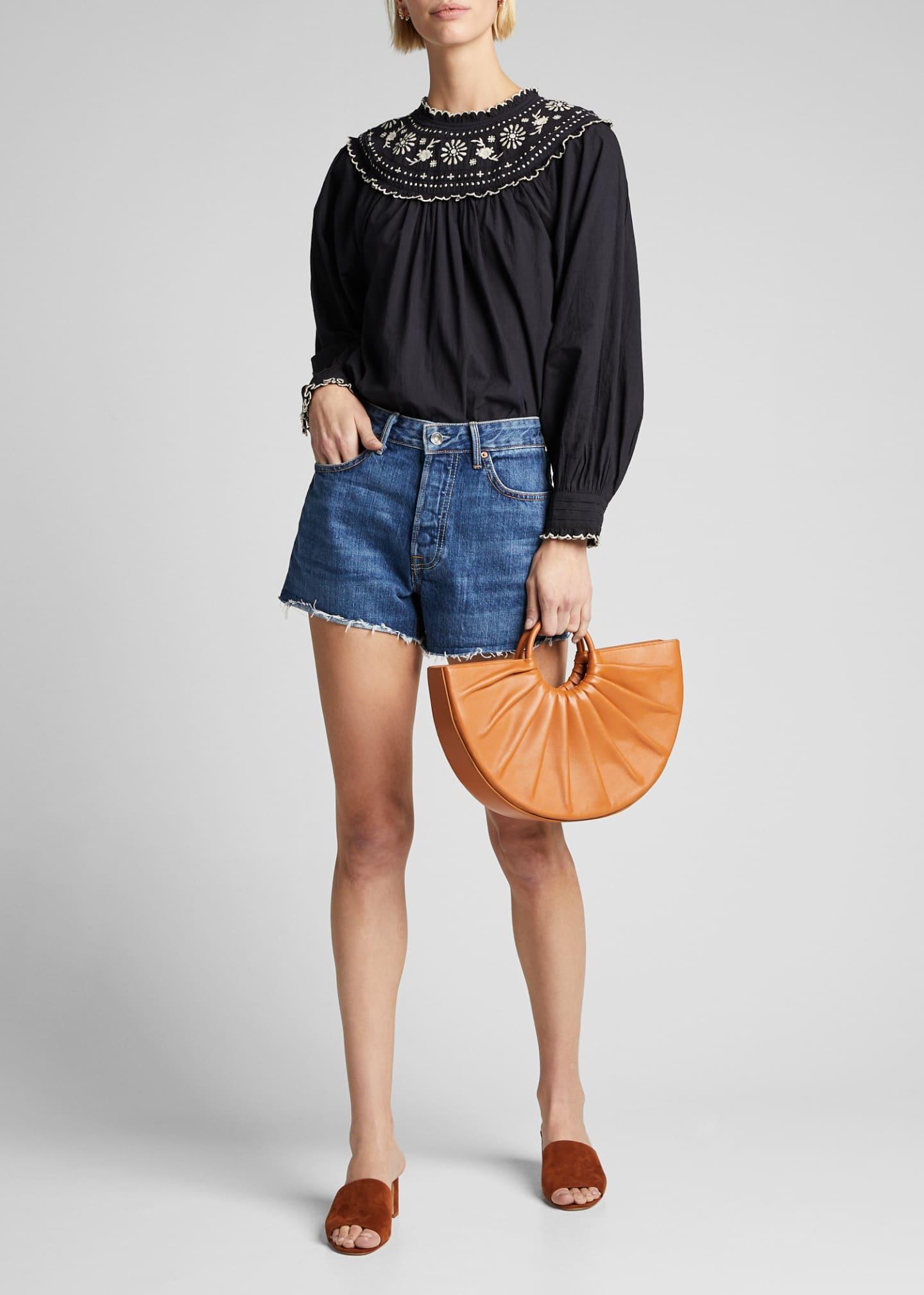 GRLFRND Helena Cutoff Organic Cotton Denim Shorts