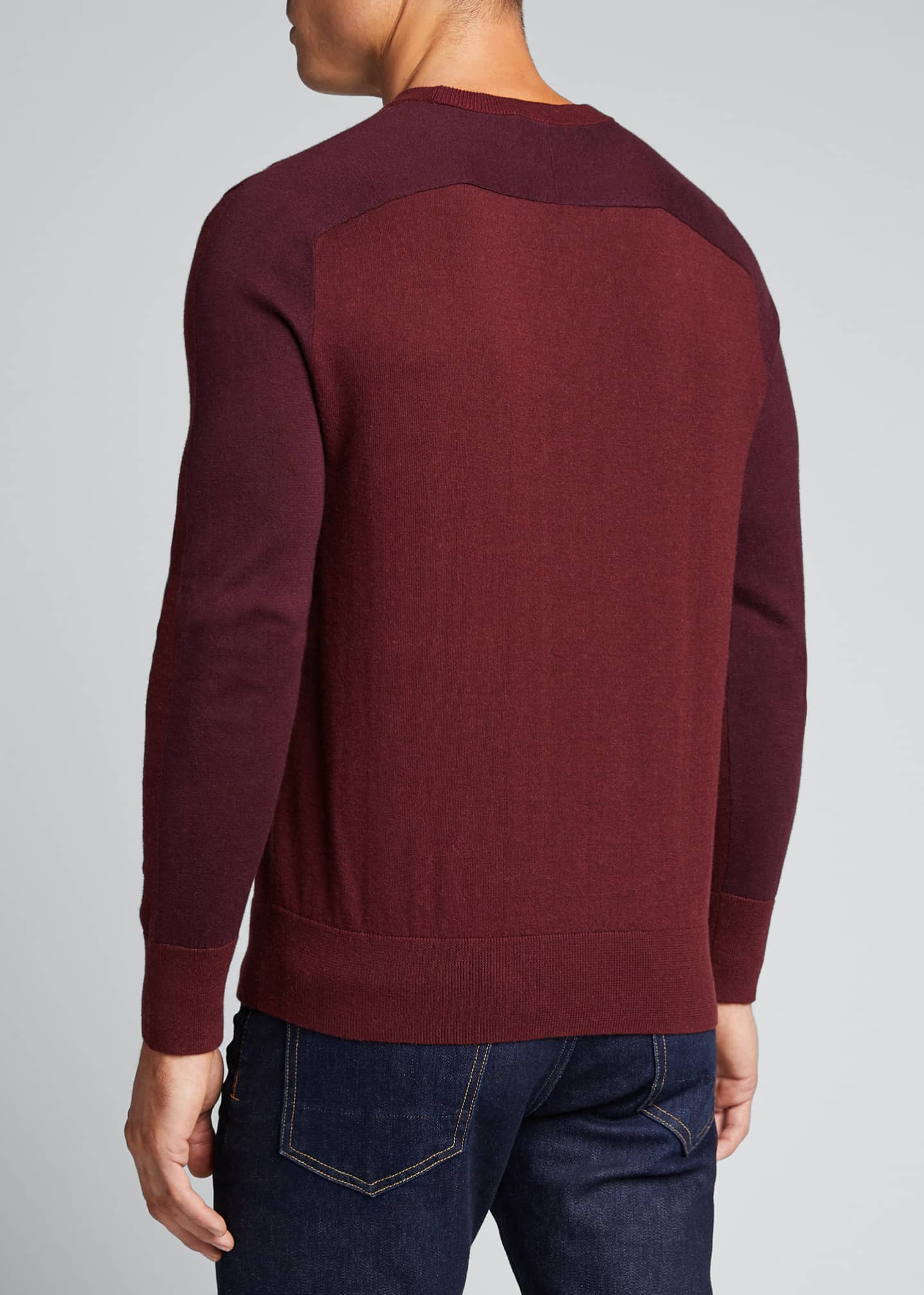 Image 2 of 5: Men's Barron Cotton-Silk Colorblock Sweater