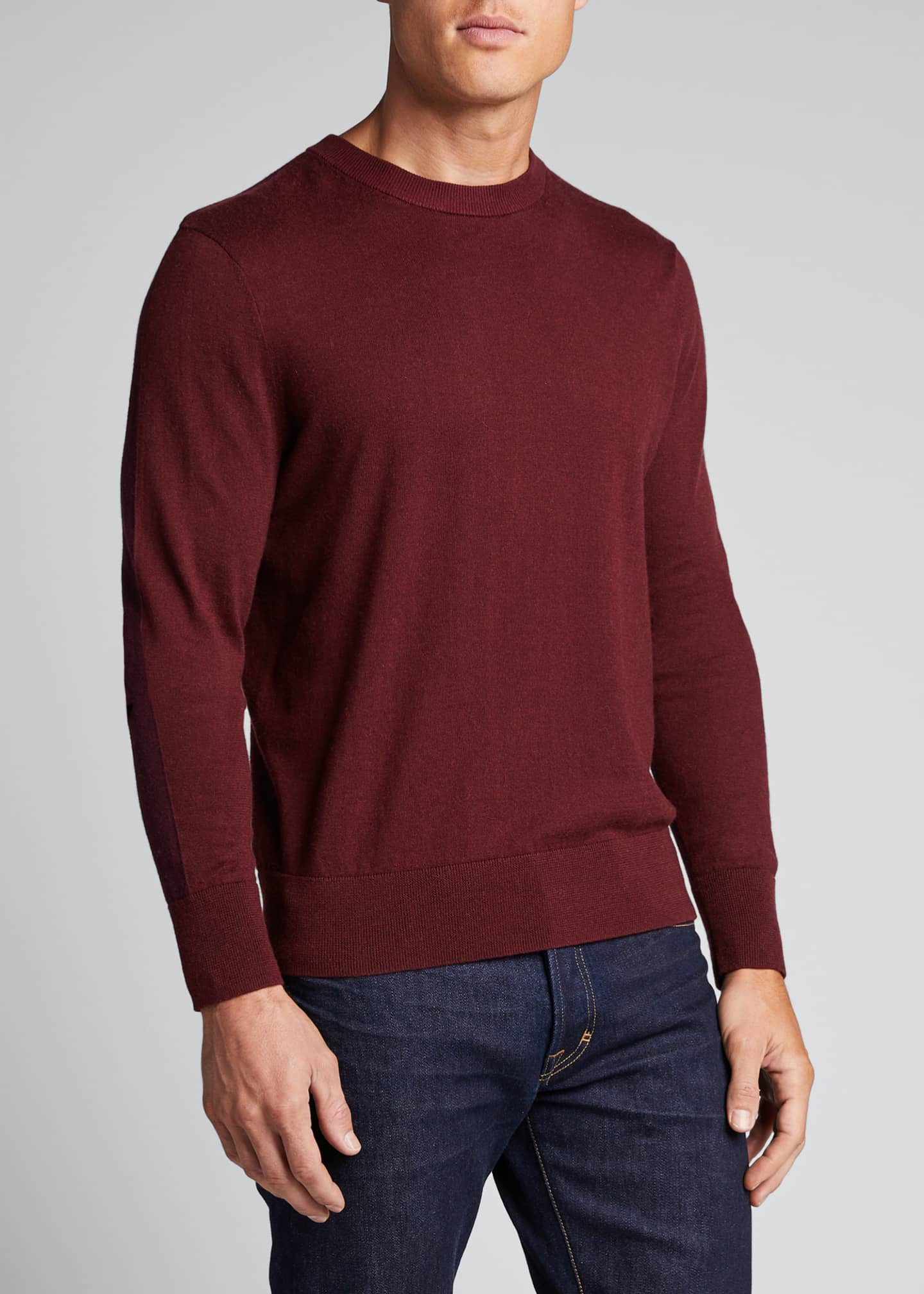 Image 3 of 5: Men's Barron Cotton-Silk Colorblock Sweater