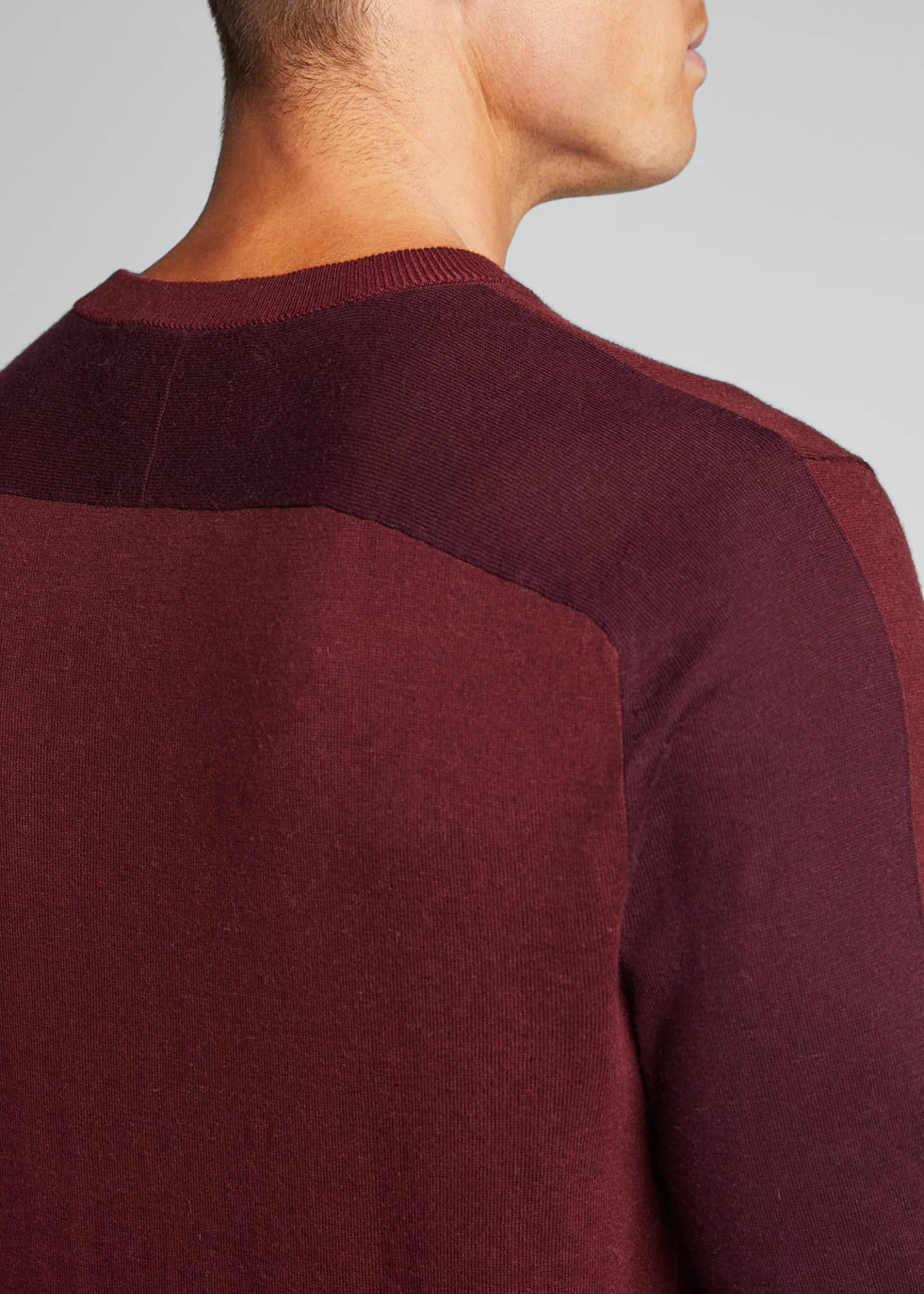 Image 4 of 5: Men's Barron Cotton-Silk Colorblock Sweater